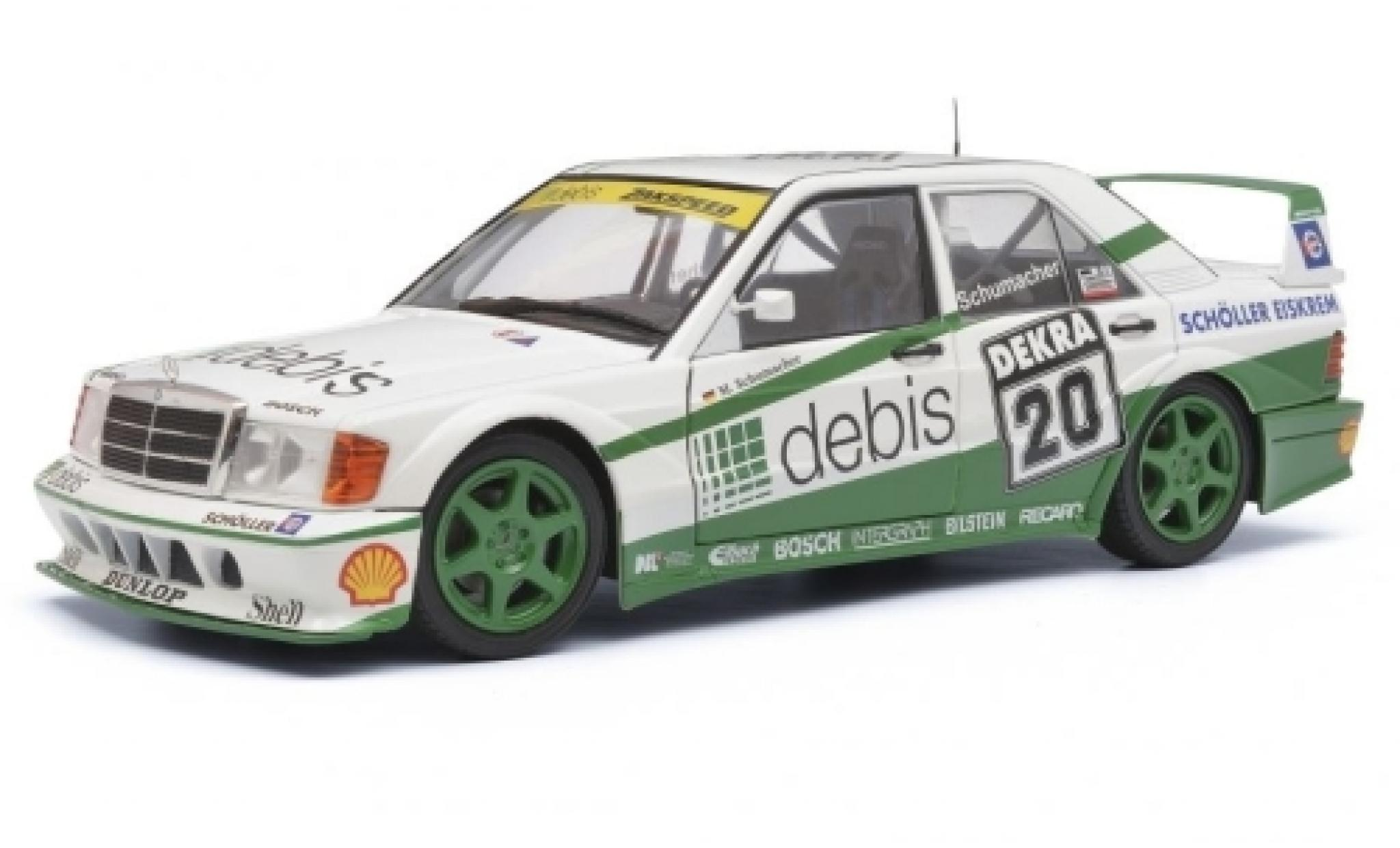 Mercedes 190 1/18 Solido E 2.5-16 EVO 2 No.20 Debis DTM 1991 M.Schumacher