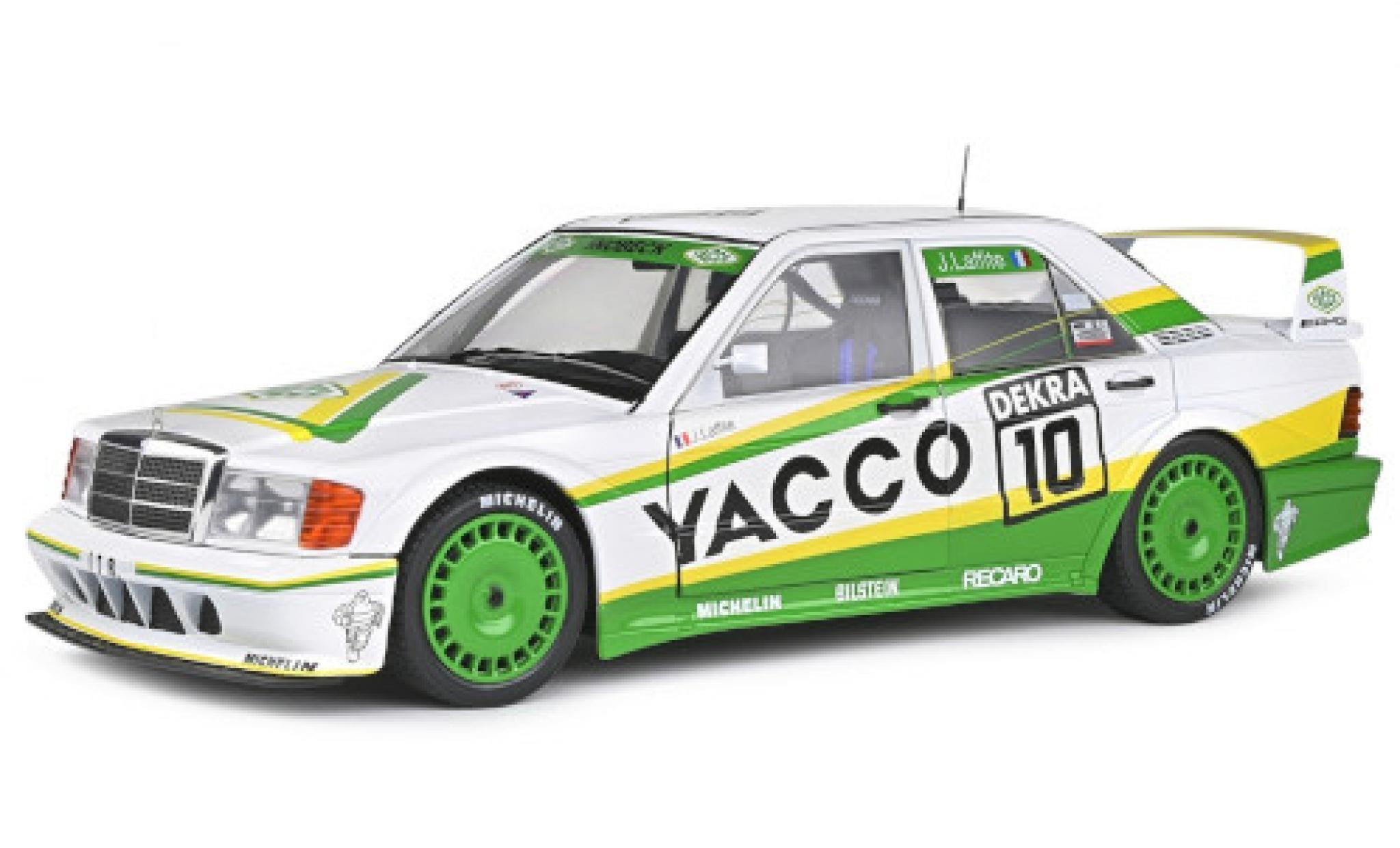 Mercedes 190 1/18 Solido E 2.5-16 Evo 2 (W201) No.10 Team Snobeck Yacco DTM 1991 J.Laffite