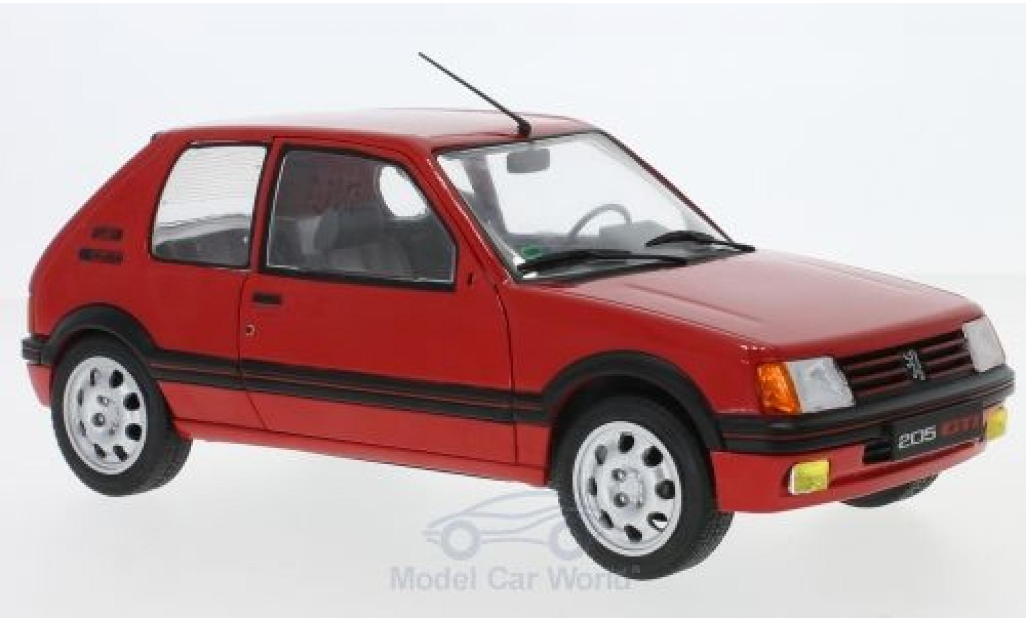 Peugeot 205 GTI 1/18 Solido 1.9 rouge 1988