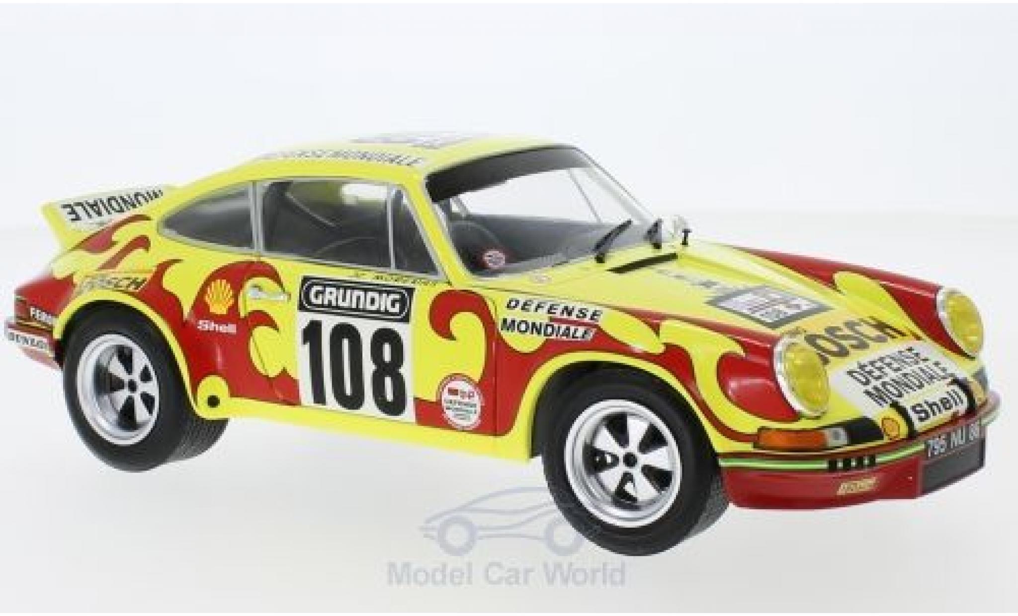 Porsche 911 1/18 Solido RSR No.108 Sonauto Tour de France Auto 1973 C.Ballot-Lena/J.C.Morenas