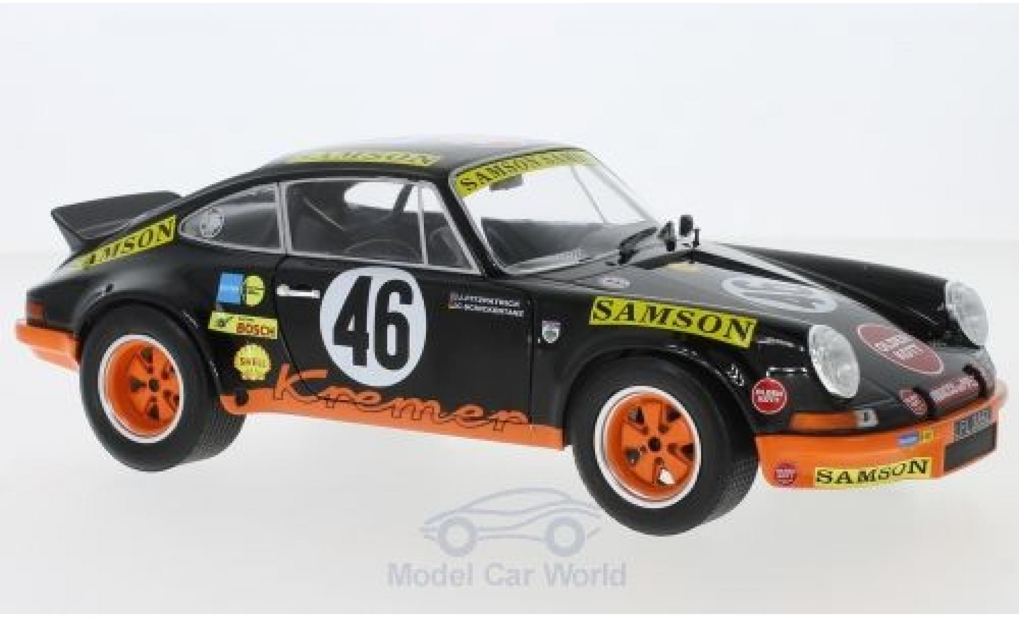 Porsche 911 1/18 Solido RSR No.46 Kremer Samson 1000 Km Spa 1973 J.Fitzpatrick/C.Schickentanz