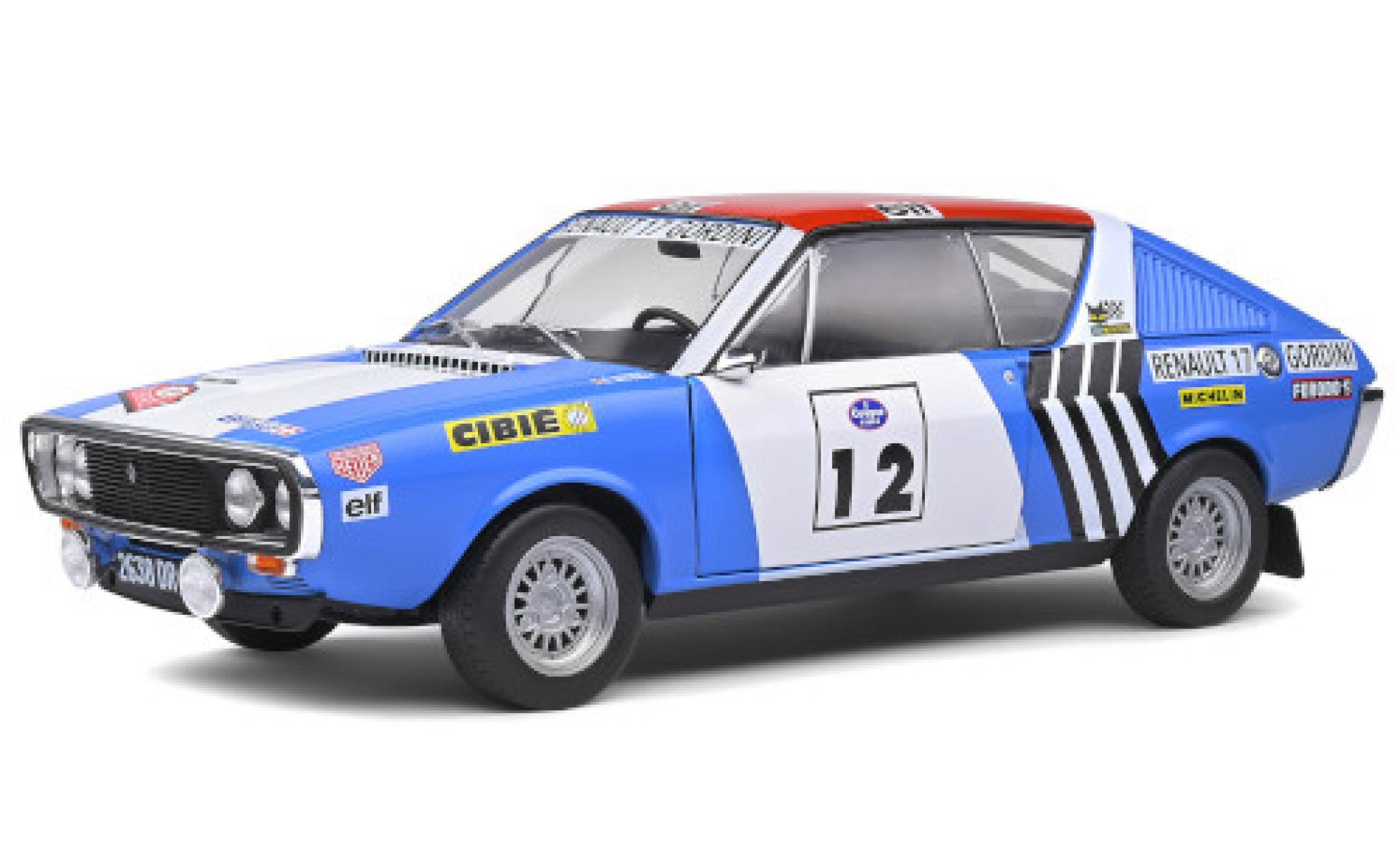 Renault 17 1/18 Solido Gordini No.12 Rallye WM Rallye Press on Regardless 1974 J-L.Therier/C.Delferier