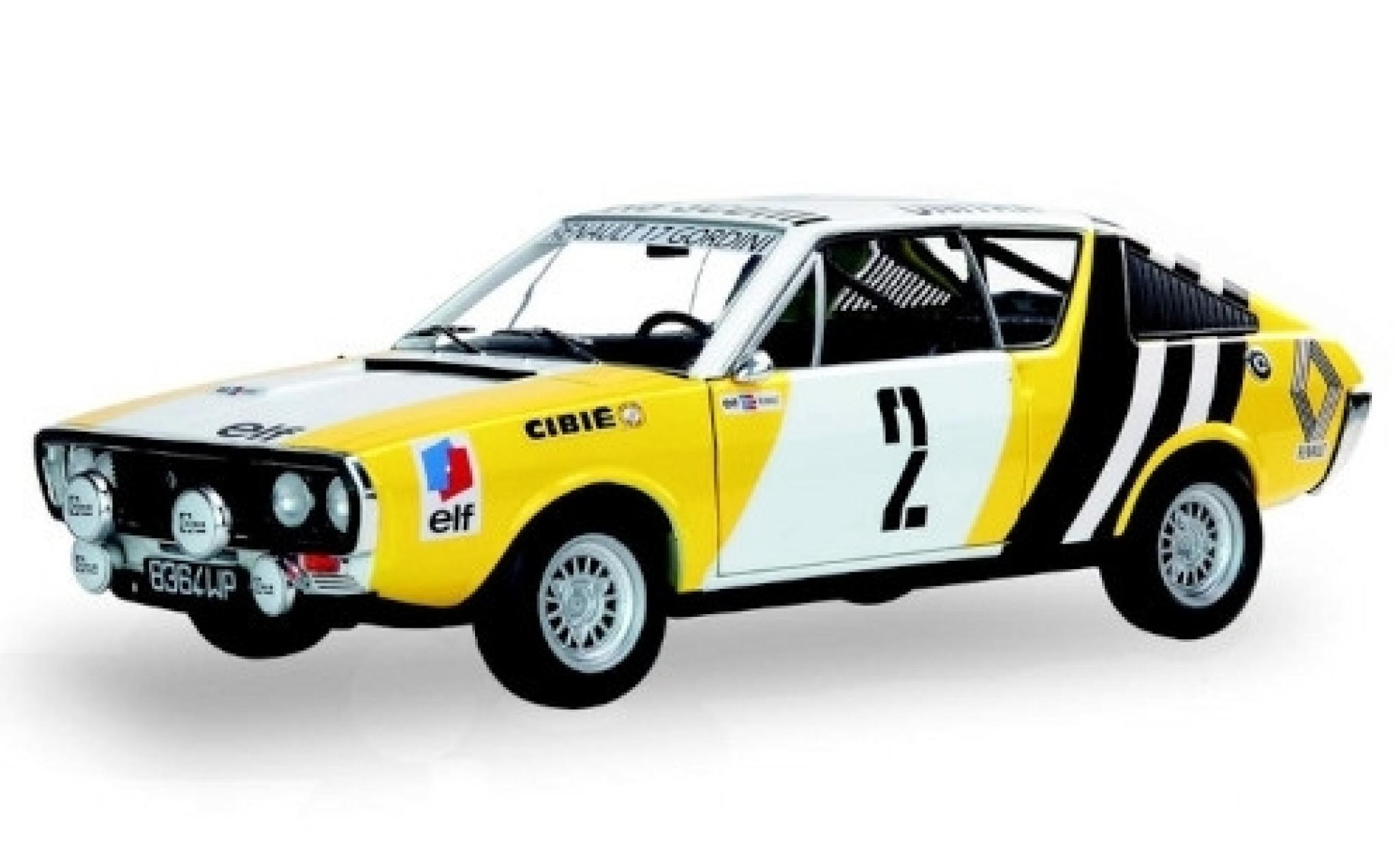 Renault 17 1/18 Solido Gordini No.2 elf Team Rallye Polen 1976