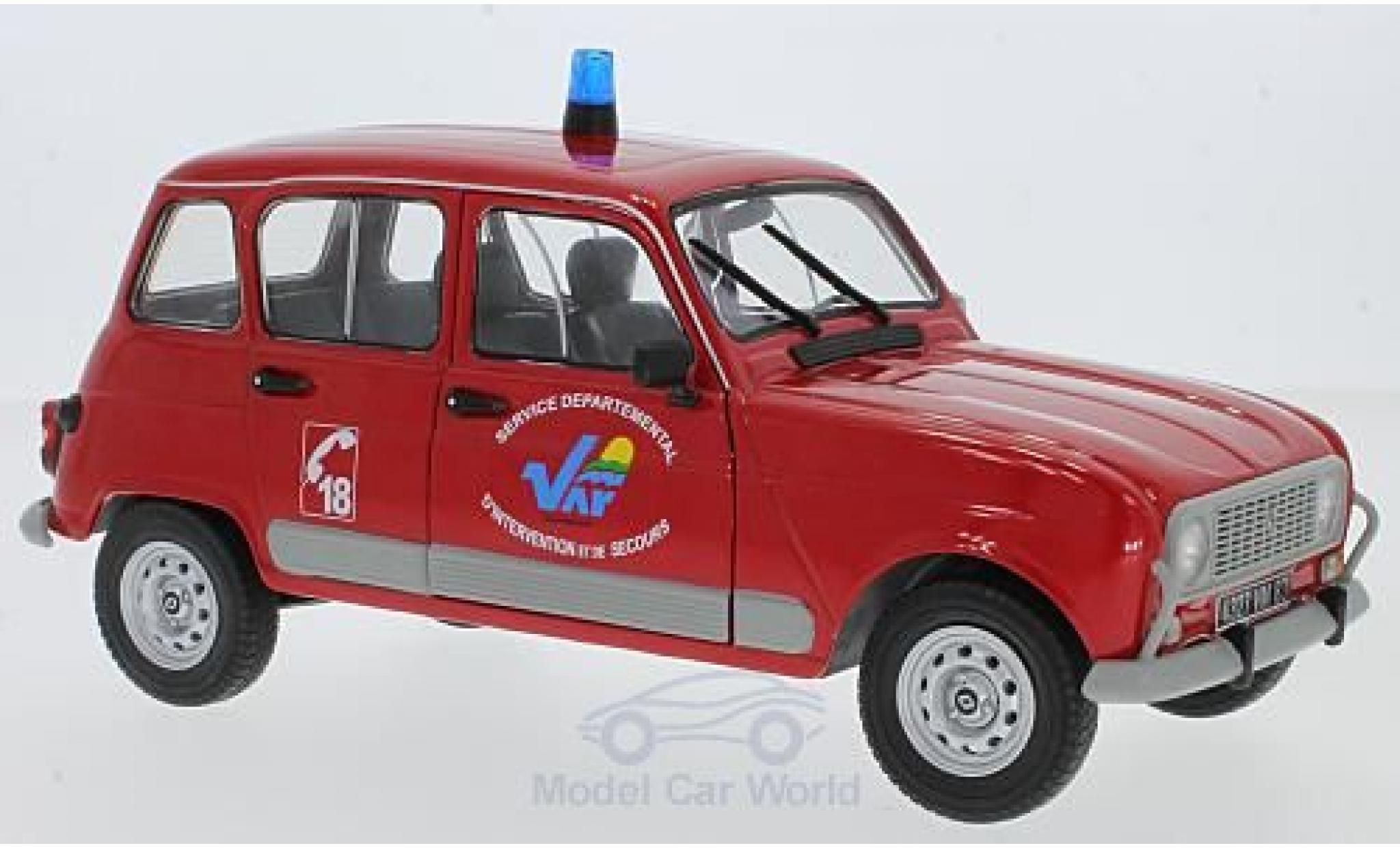 Renault 4 L 1/18 Solido GTL Feuerwehr