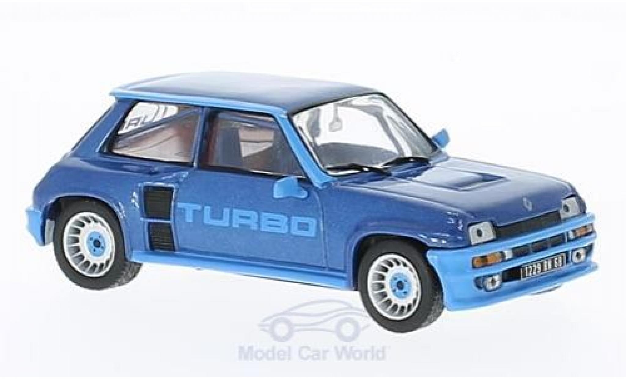 Renault 5 1/43 Solido Turbo métallisé bleue 1980