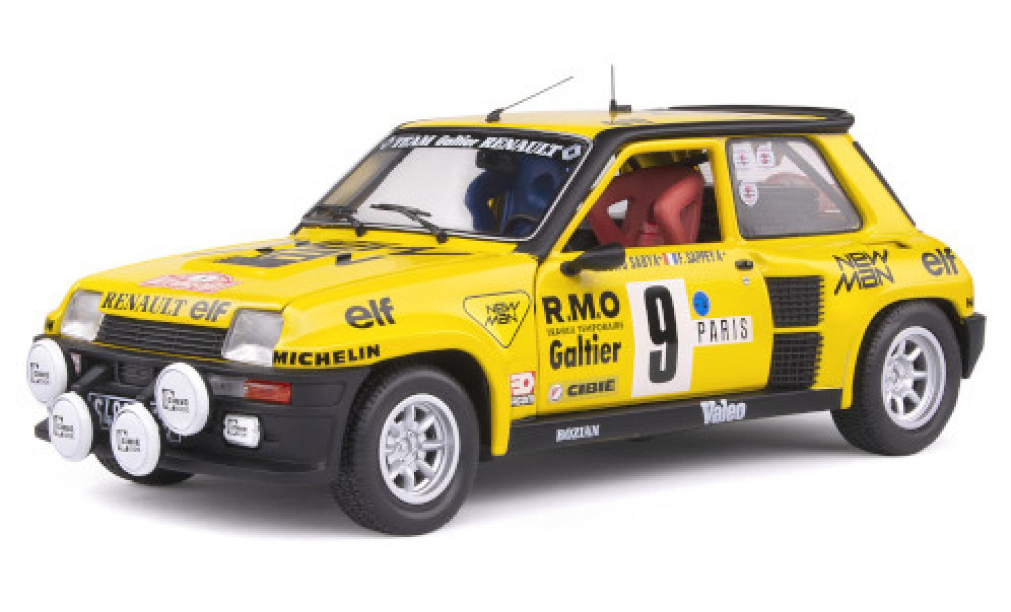 Renault 5 1/18 Solido Turbo No.9 Team Galtier New Man Rallye WM Rallye Monte Carlo 1982 B.Saby/F.Sappey