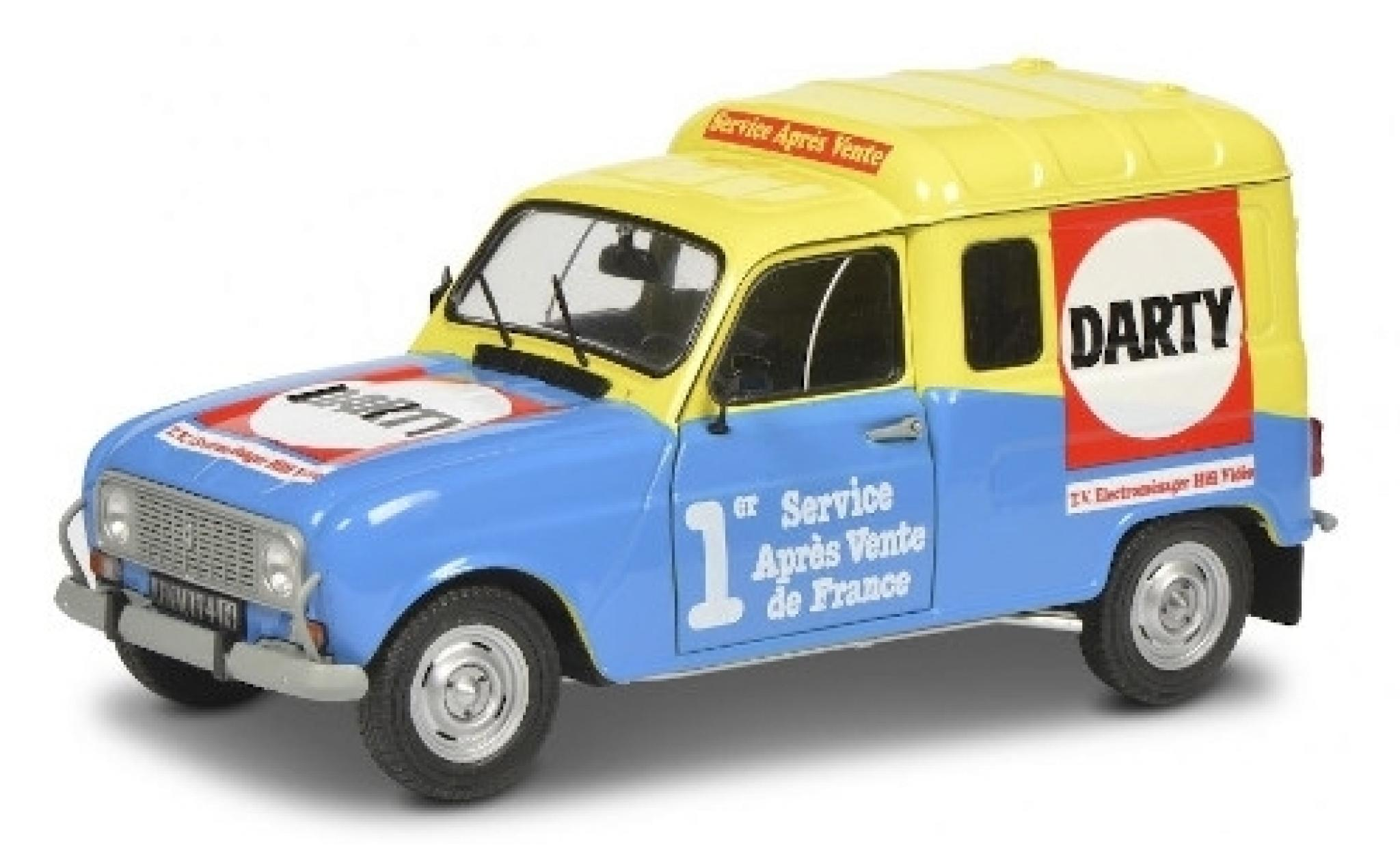 Renault 4 1/18 Solido R F Darty 1988