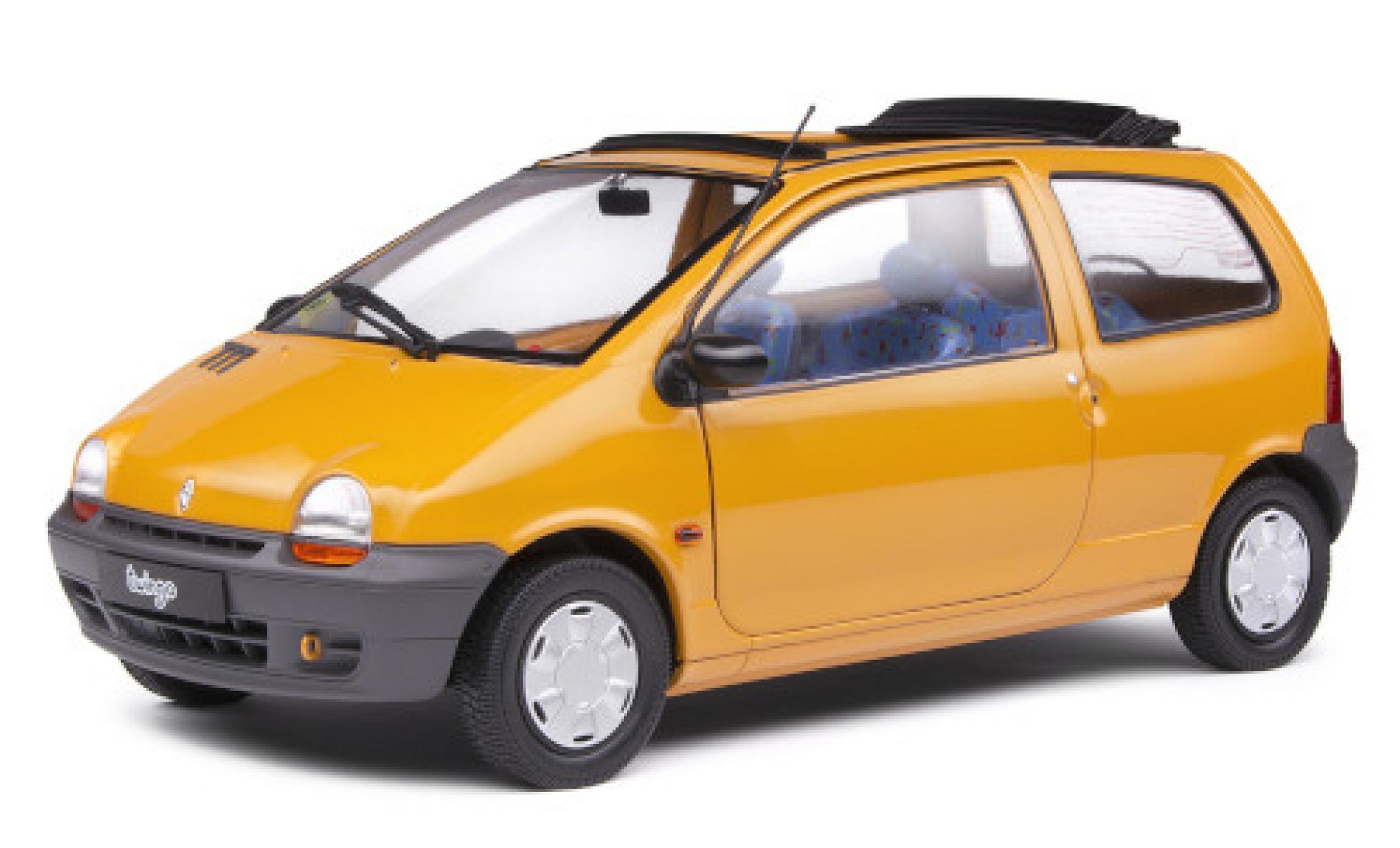 Renault Twingo 1/18 Solido MkI Open Air jaune 1993 avec ouverts/es toit rabattable