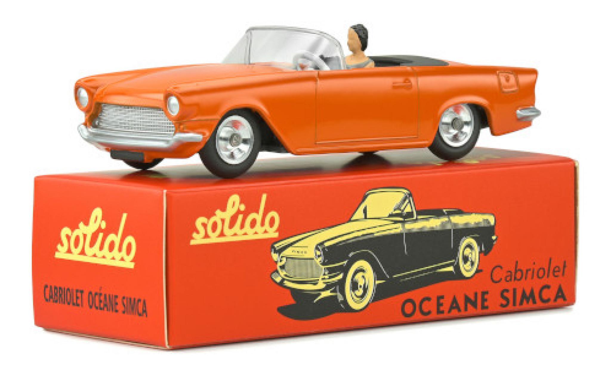 Simca Oceane 1/43 Solido orange avec figurine