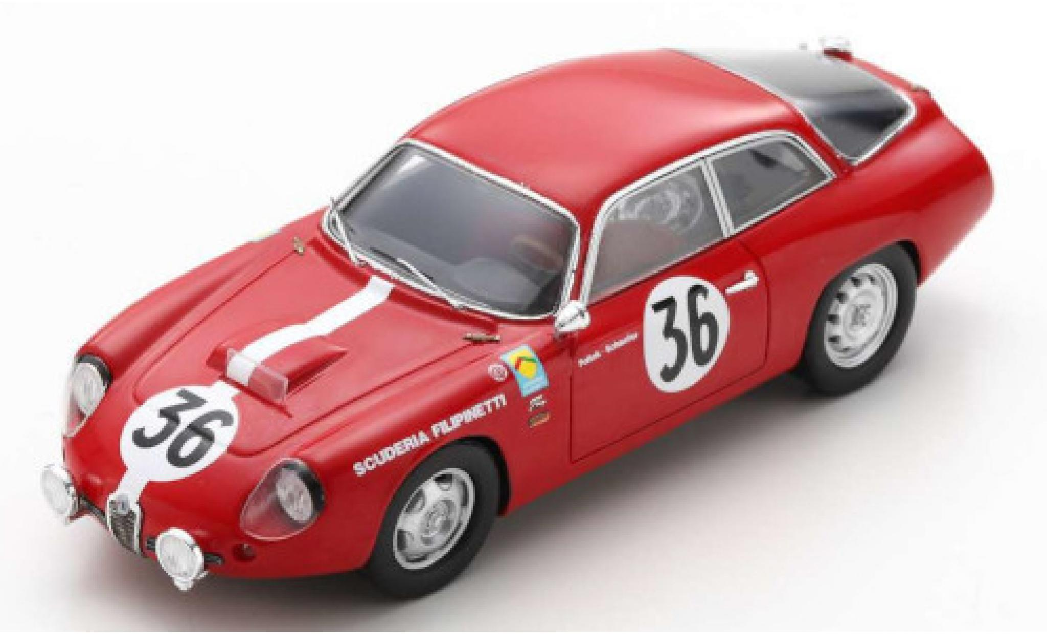 Alfa Romeo Giulietta 1/43 Spark GZ No.36 Scuderia Filipinetti 24h Le Mans 1963 K.Foitek/A.Schäfer