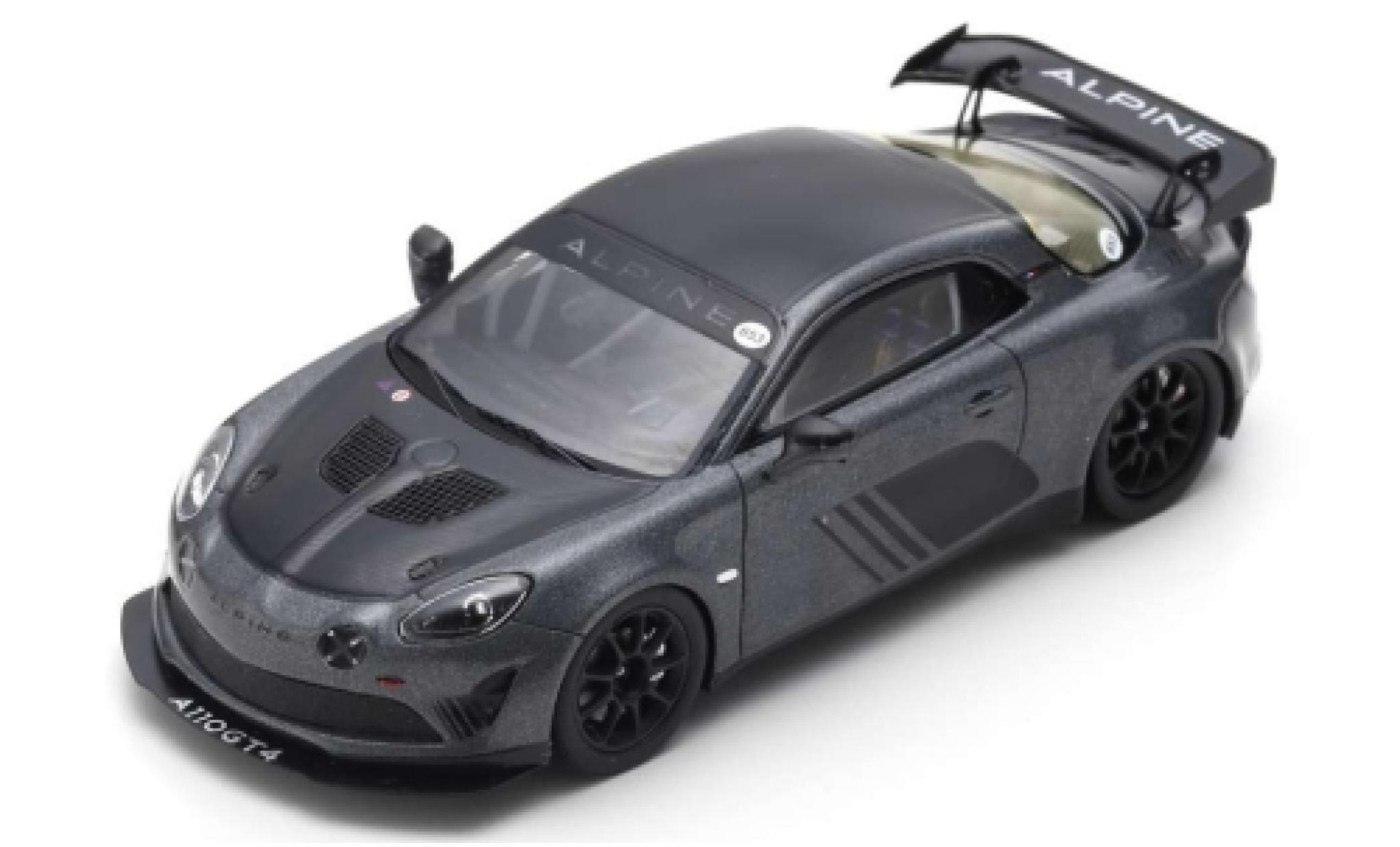 Alpine A110 1/43 Spark GT4 metallise grise/noire Goodwood 2018