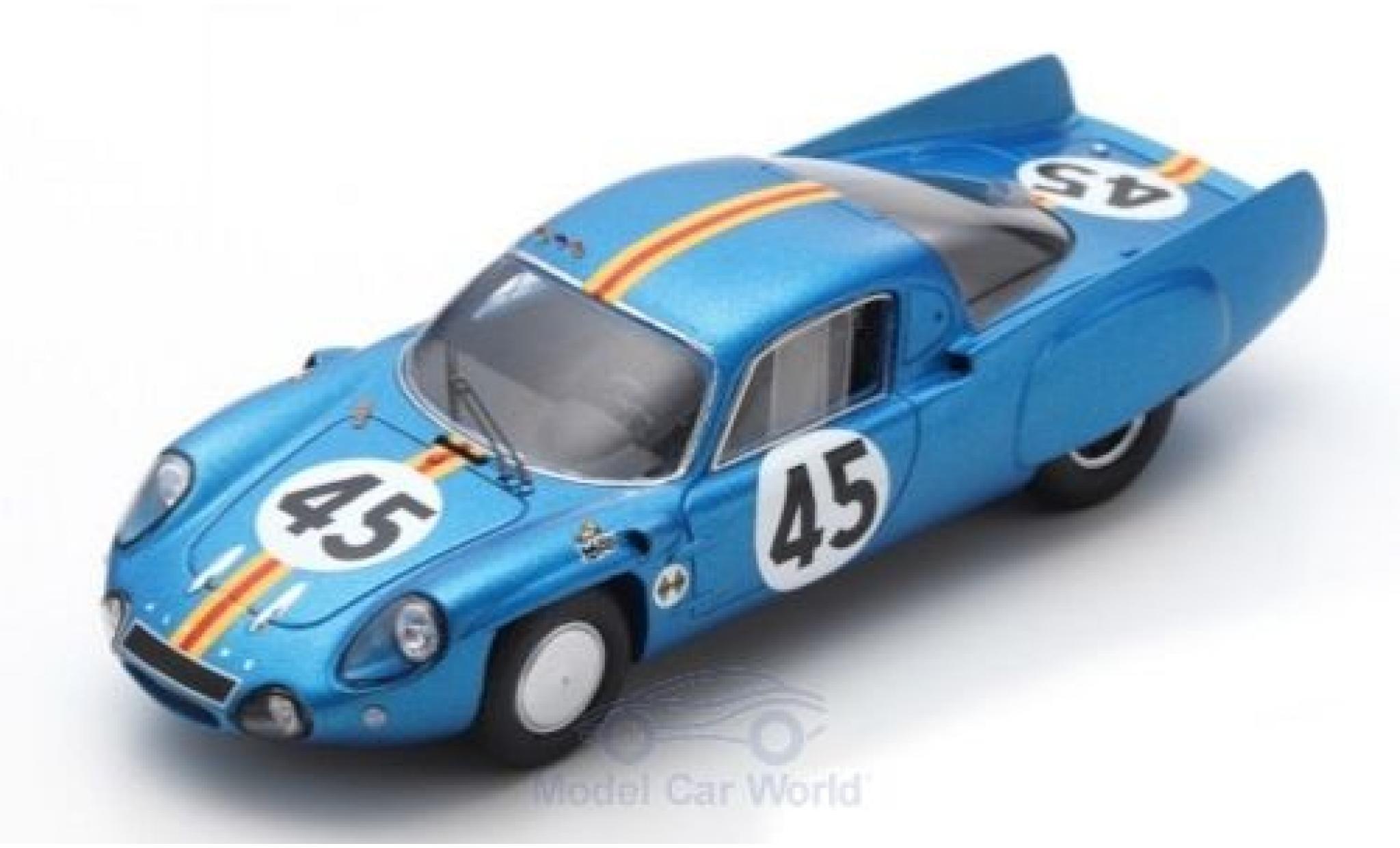 Alpine A210 1/43 Spark No.45 24h Le Mans 1966 G.Verrier/R.Bouharde