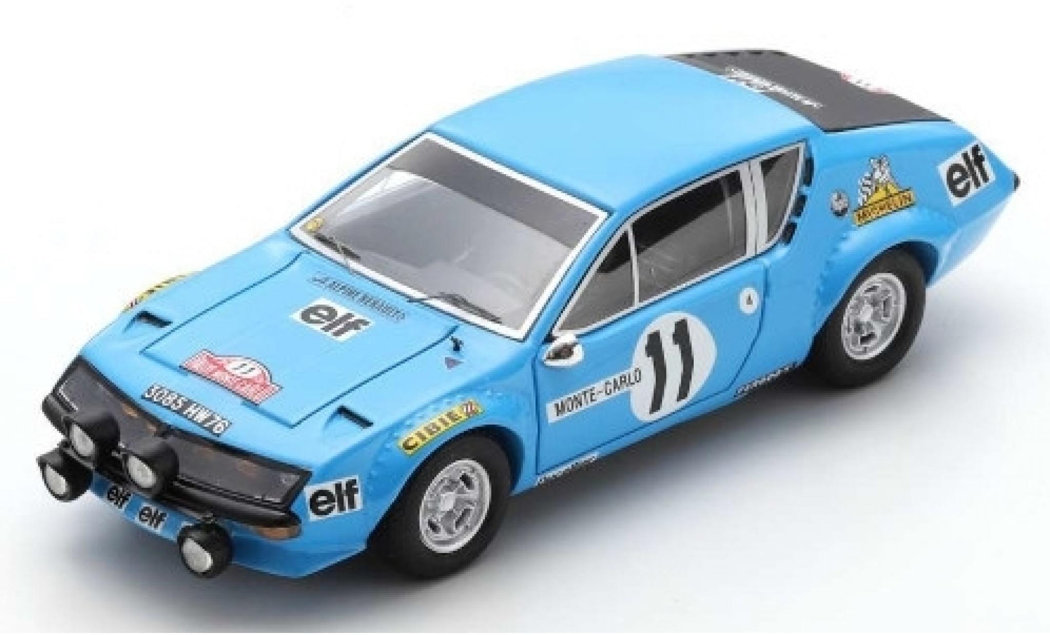 Alpine A310 1/43 Spark No.11 Renault Rallye Monte Carlo 1975 A.Warmbold/J.Davenport