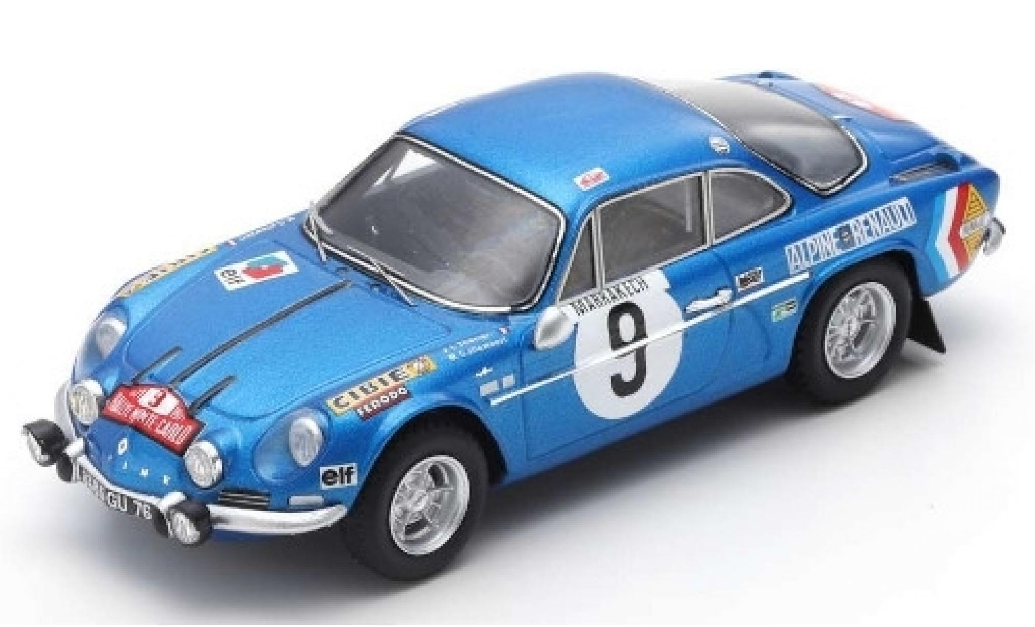 Alpine A110 1/43 Spark Renault No.9 Rally Monte Carlo 1971 J-L.Therier/M.Callewaert