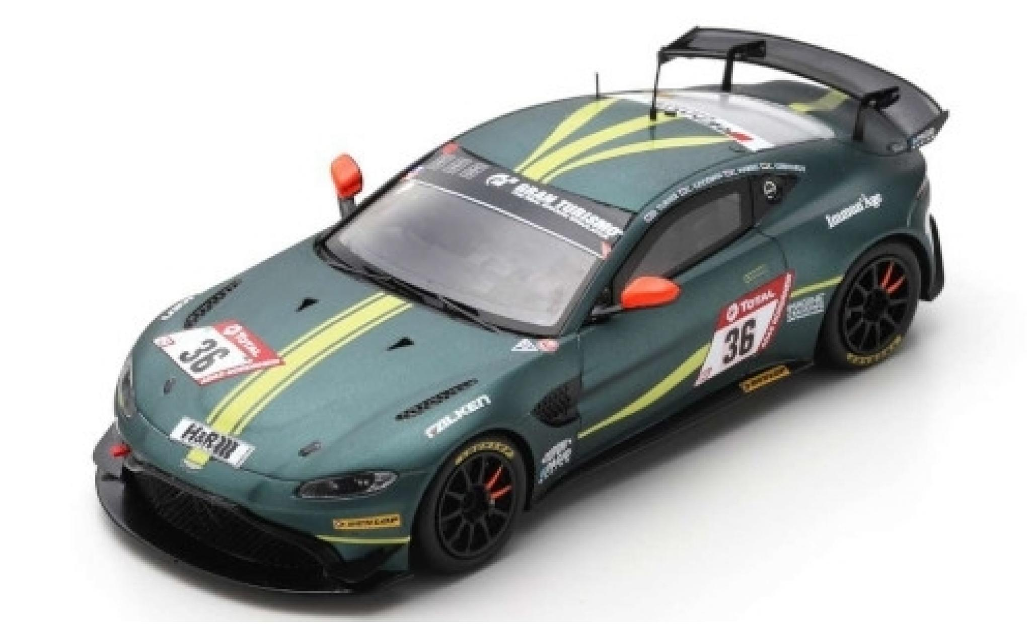 Aston Martin Vantage 1/43 Spark AMR GT4 No.36 AMR Performance Center 24h Nürburgring 2019 D.Turner/C.Goodwin/C.Gebhardt