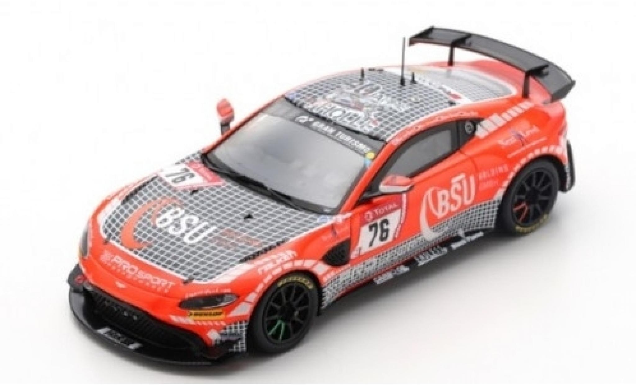 Aston Martin Vantage 1/43 Spark AMR GT4 No.76 Prosport-Performance GmbH 24h Nürburgring 2019 C.Breuer/K.van Berlo/A.Mies/M.D.Ortmann