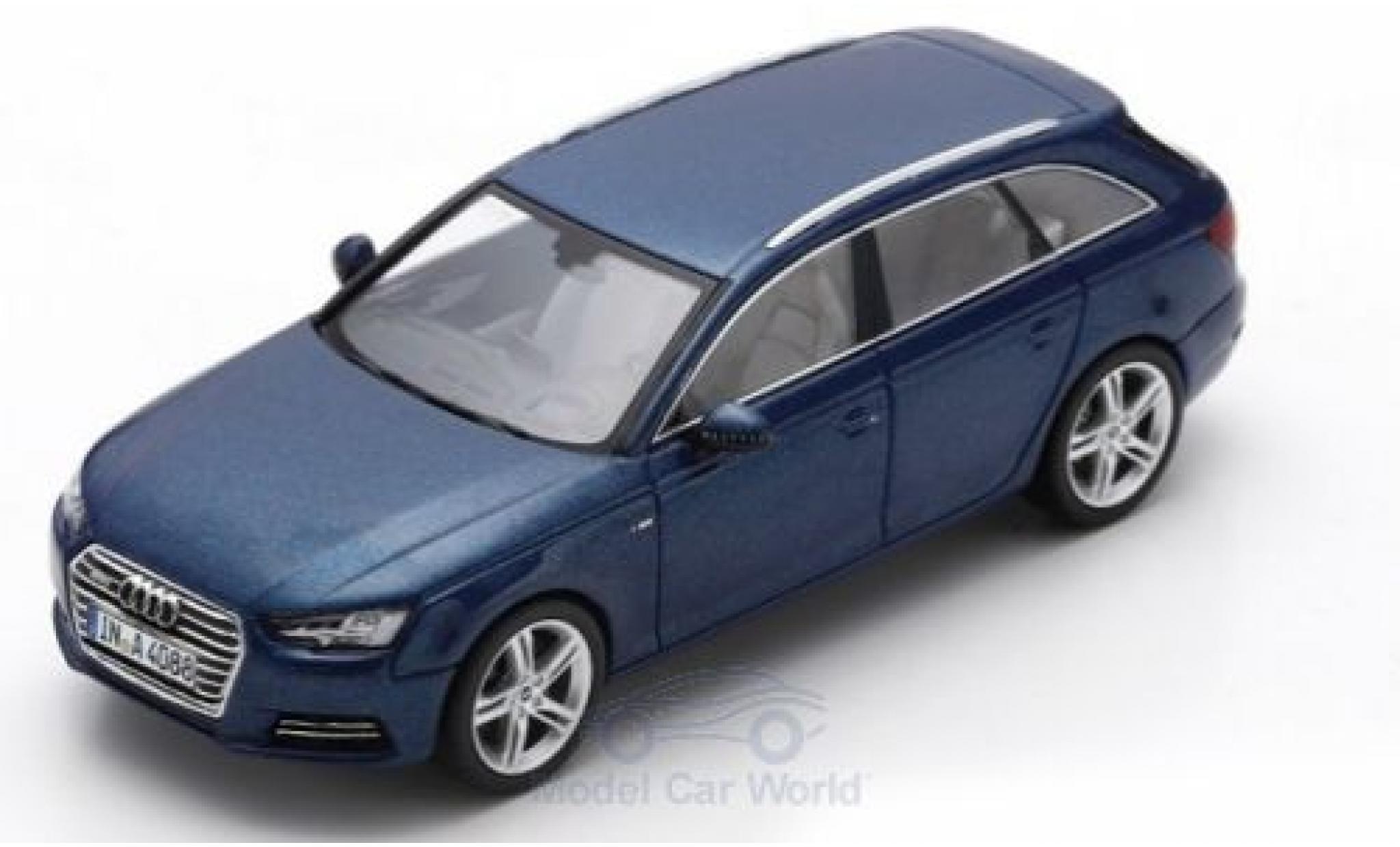 Audi A4 1/43 Spark Avant metallise bleue 2016