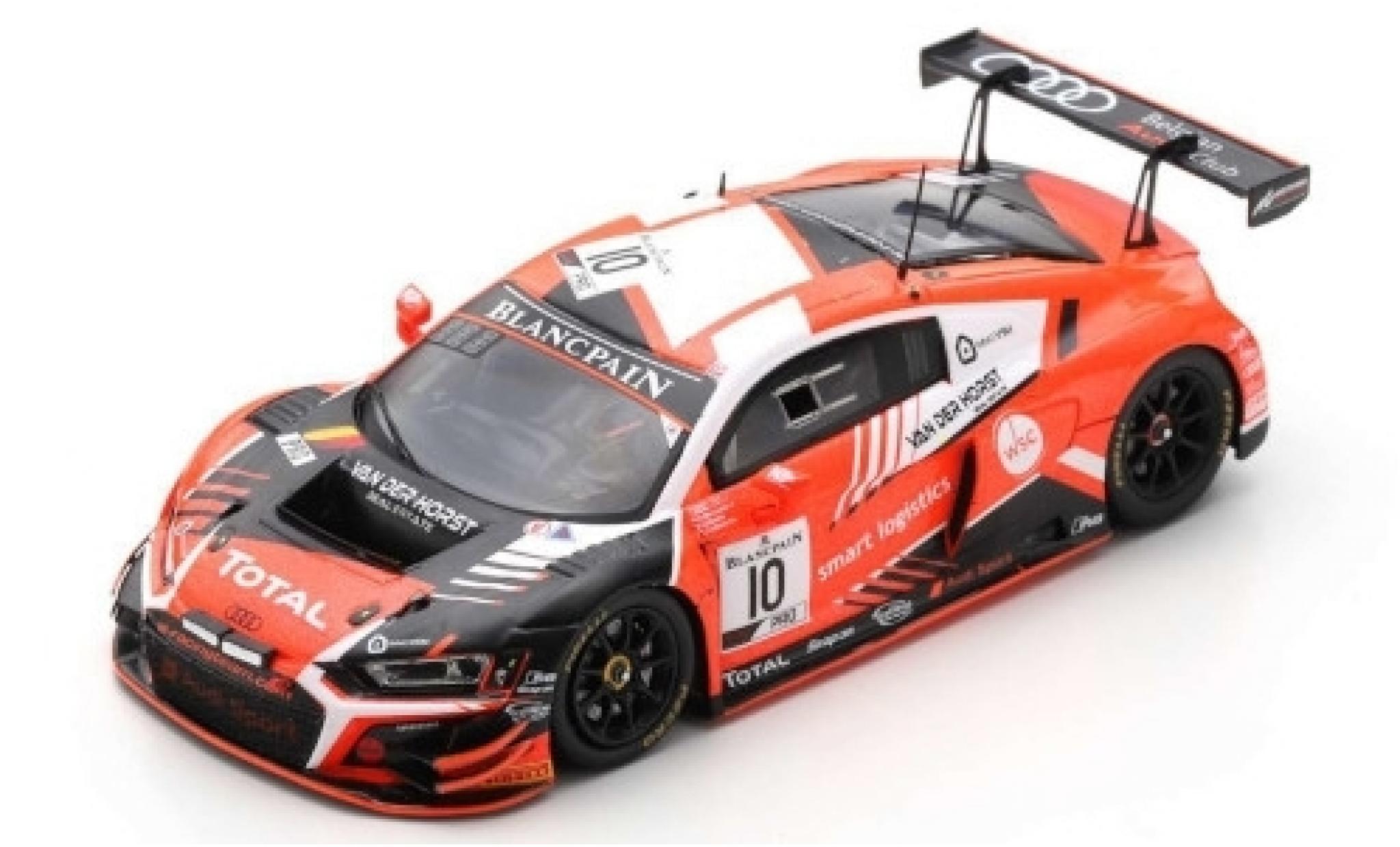 Audi R8 1/43 Spark LMS GT3 No.10 Belgian Club Team WRT 24h Spa 2019 C.Weerts/N.Nato/R.Breukers