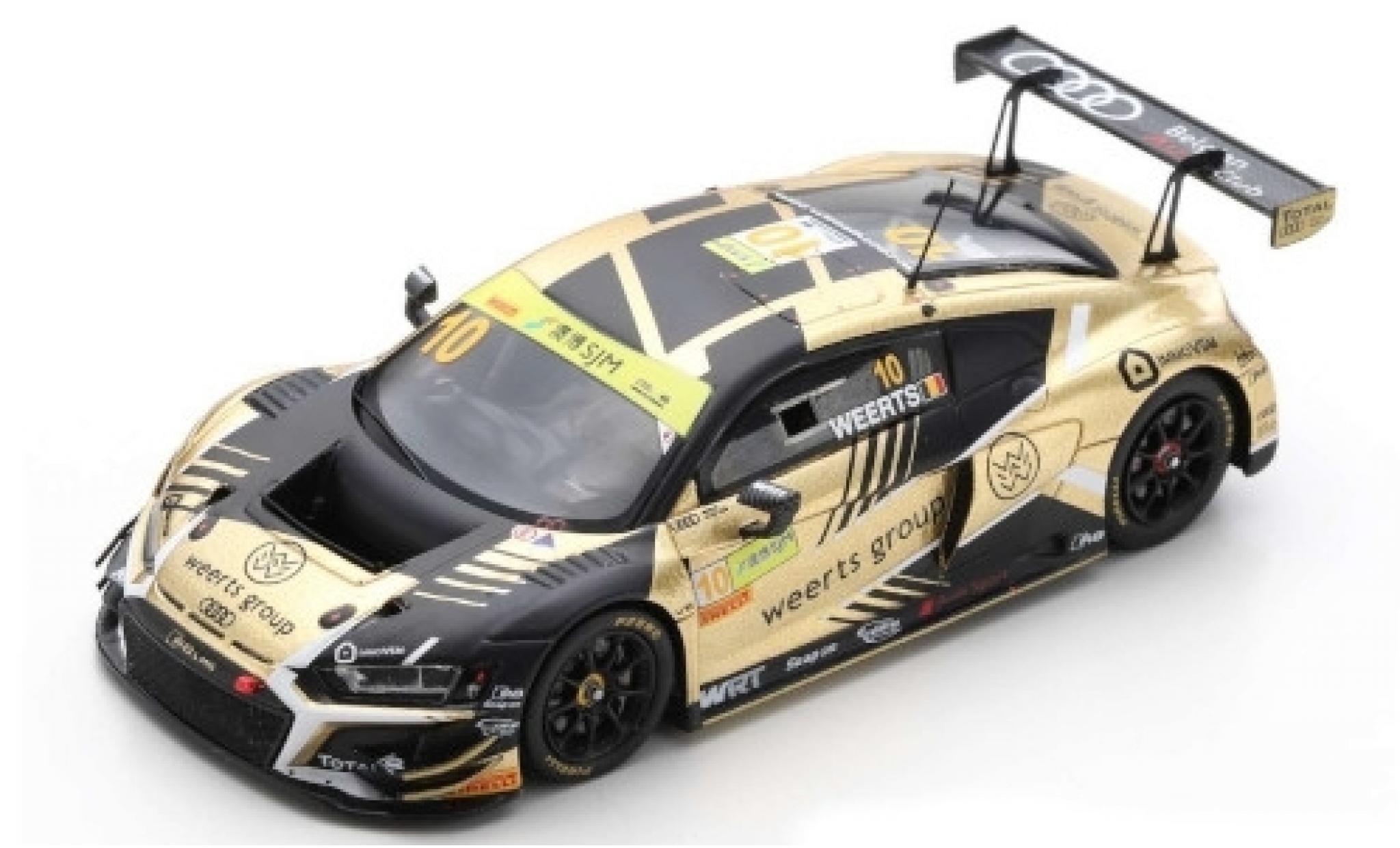 Audi R8 1/43 Spark LMS GT3 No.10 Team WRT Weerts Group Fia GT World Cup Macau 2019 C.Weerts