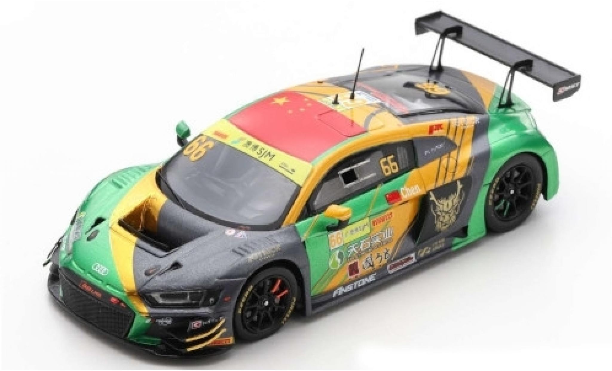 Audi R8 1/43 Spark LMS GT3 No.66 Sport Asia Team TSRT Fia GT World Cup Macau 2019 W.Chen