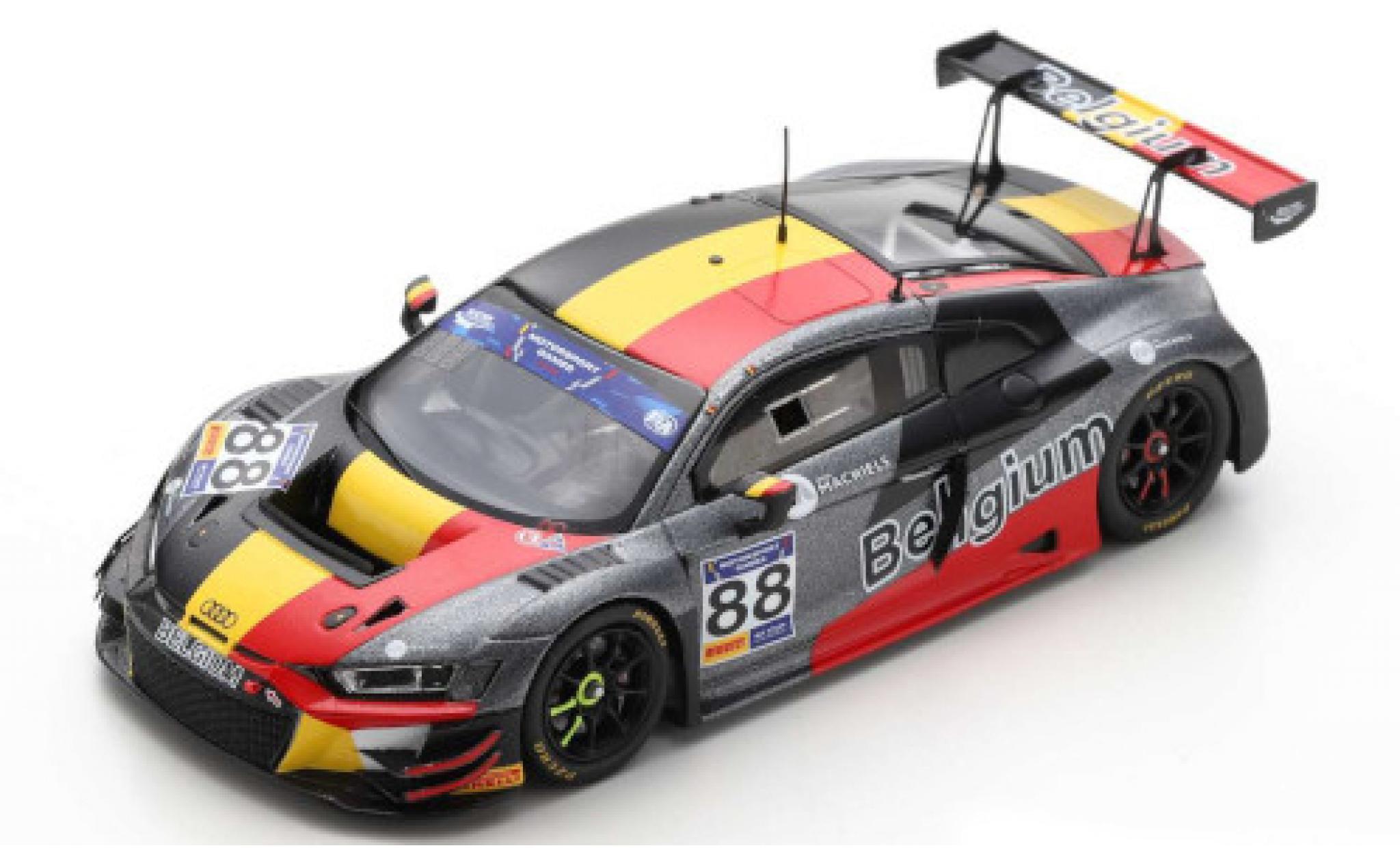 Audi R8 1/43 Spark LMS GT3 No.88 Team Belgium FIA Motorsport Games GT Cup Vallelunga 2019 L.Machiels/N.Verdonck