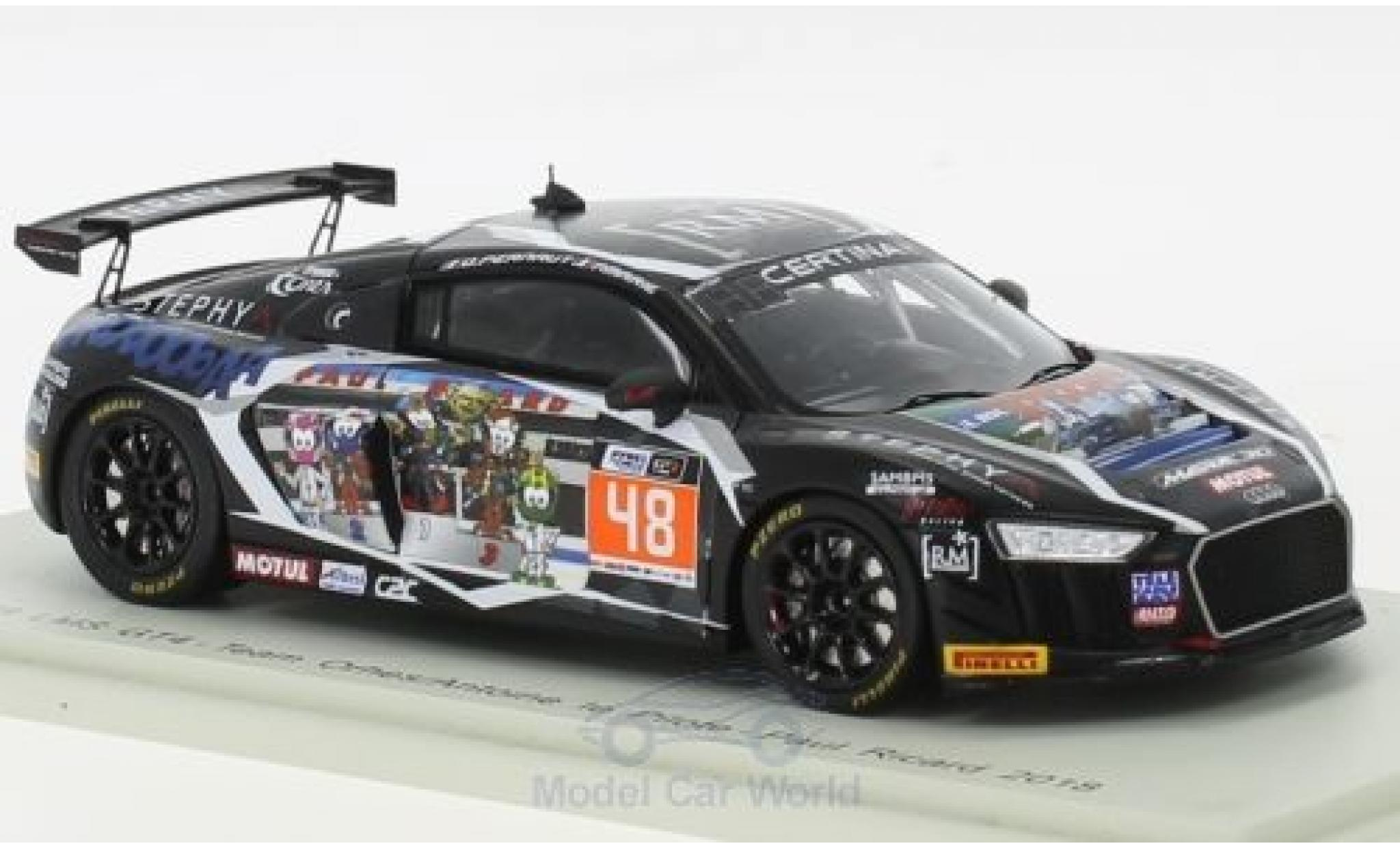 Audi R8 1/43 Spark LMS GT4 No.48 Team Orhes/Antoine le Pilote Paul Ricard 2018 O.Pernaut/P.Marie
