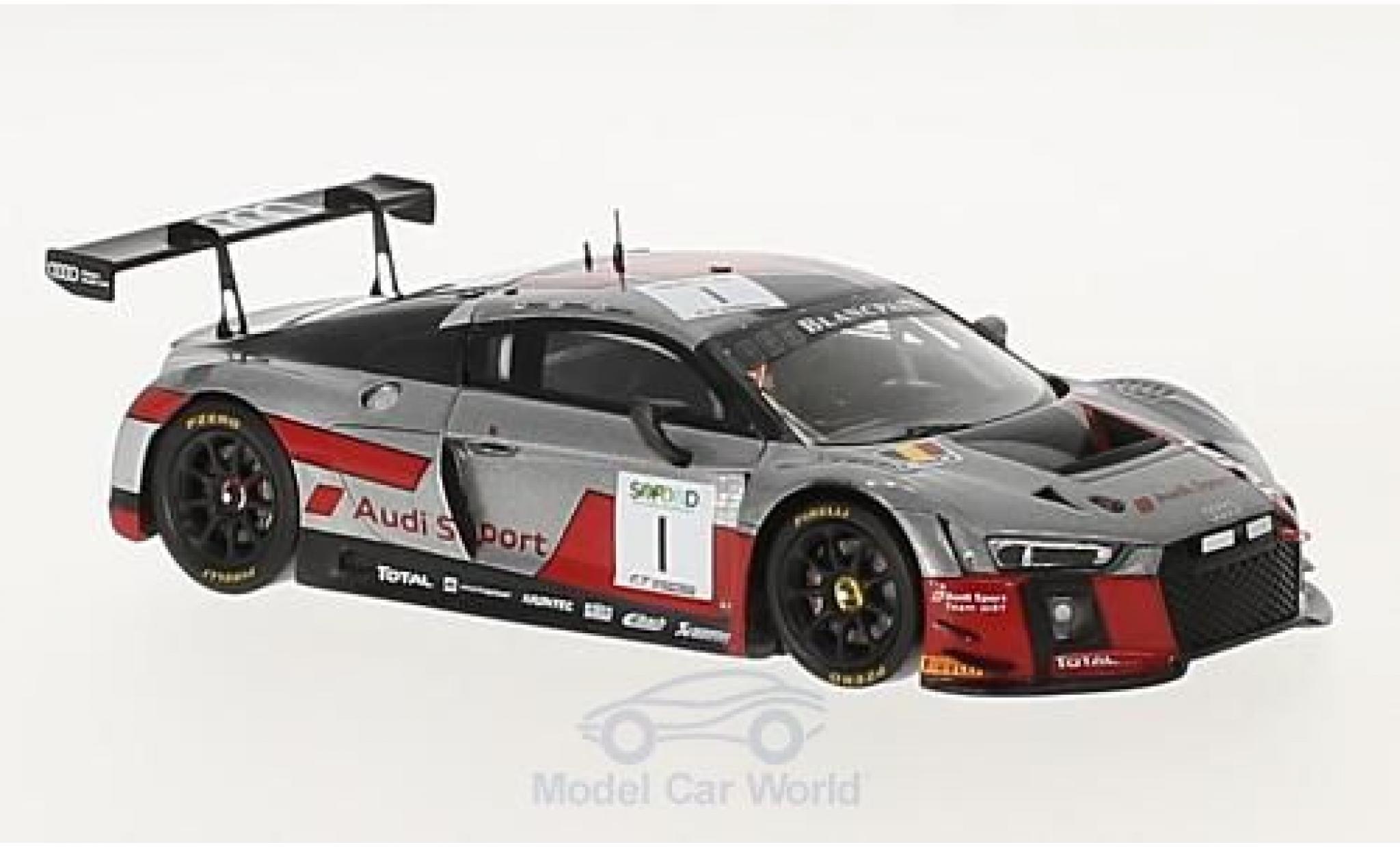 Audi R8 1/43 Spark LMS No.1 Sport Team WRT 24h Spa 2017 A.Garcia/N.Müller/R.Rast
