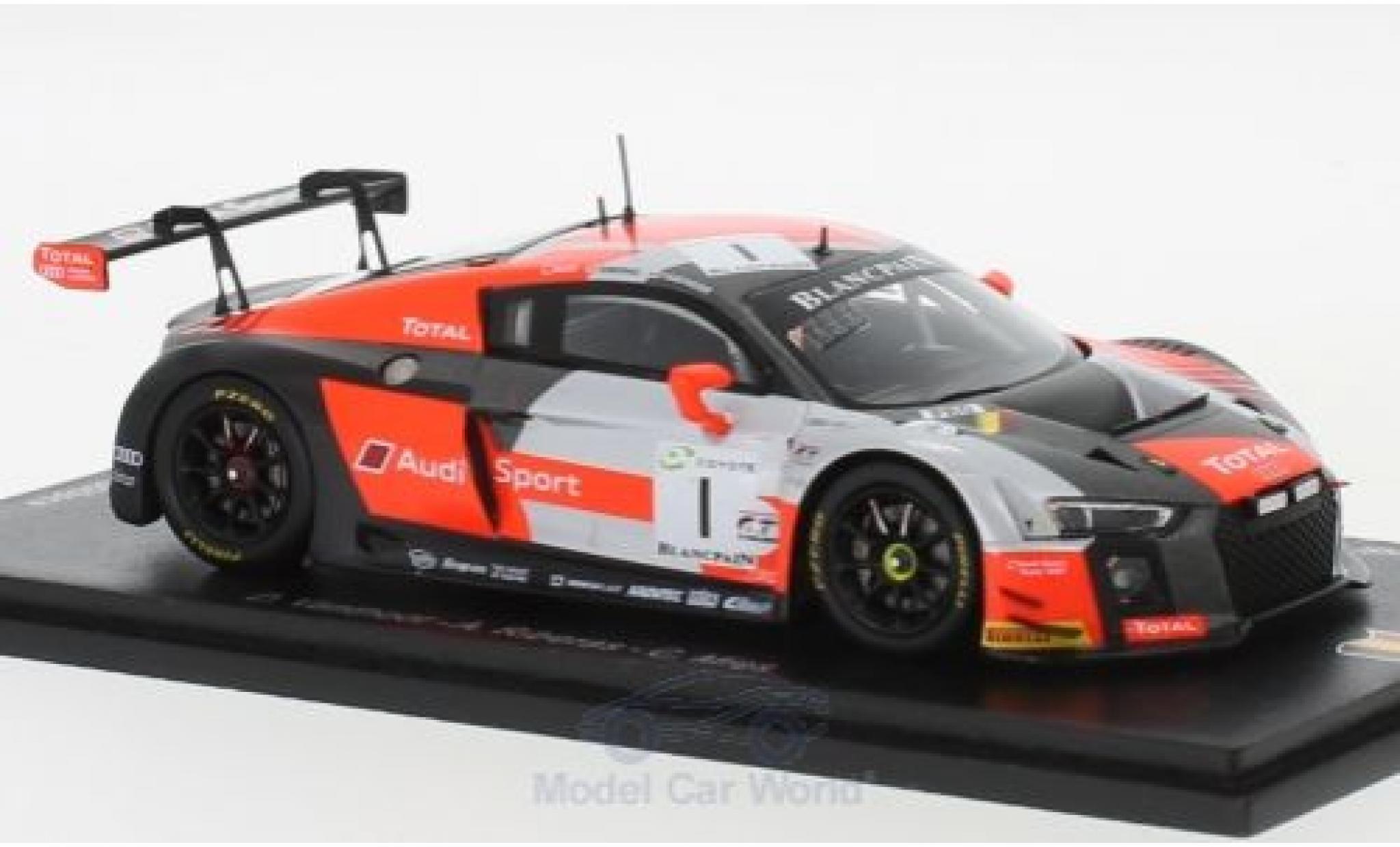 Audi R8 1/43 Spark LMS No.1 Belgian Club Team WRT 24h Spa 2018 D.Vanthoor/A.Riberas/C.Mies