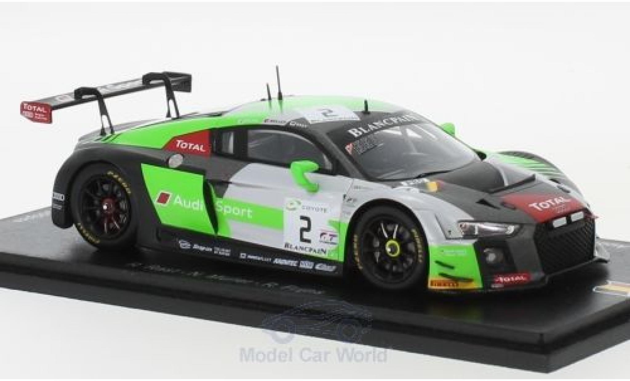 Audi R8 1/43 Spark LMS No.2 Sport Team WRT 24h Spa 2018 R.Rast/N.Müller/R.Frijns