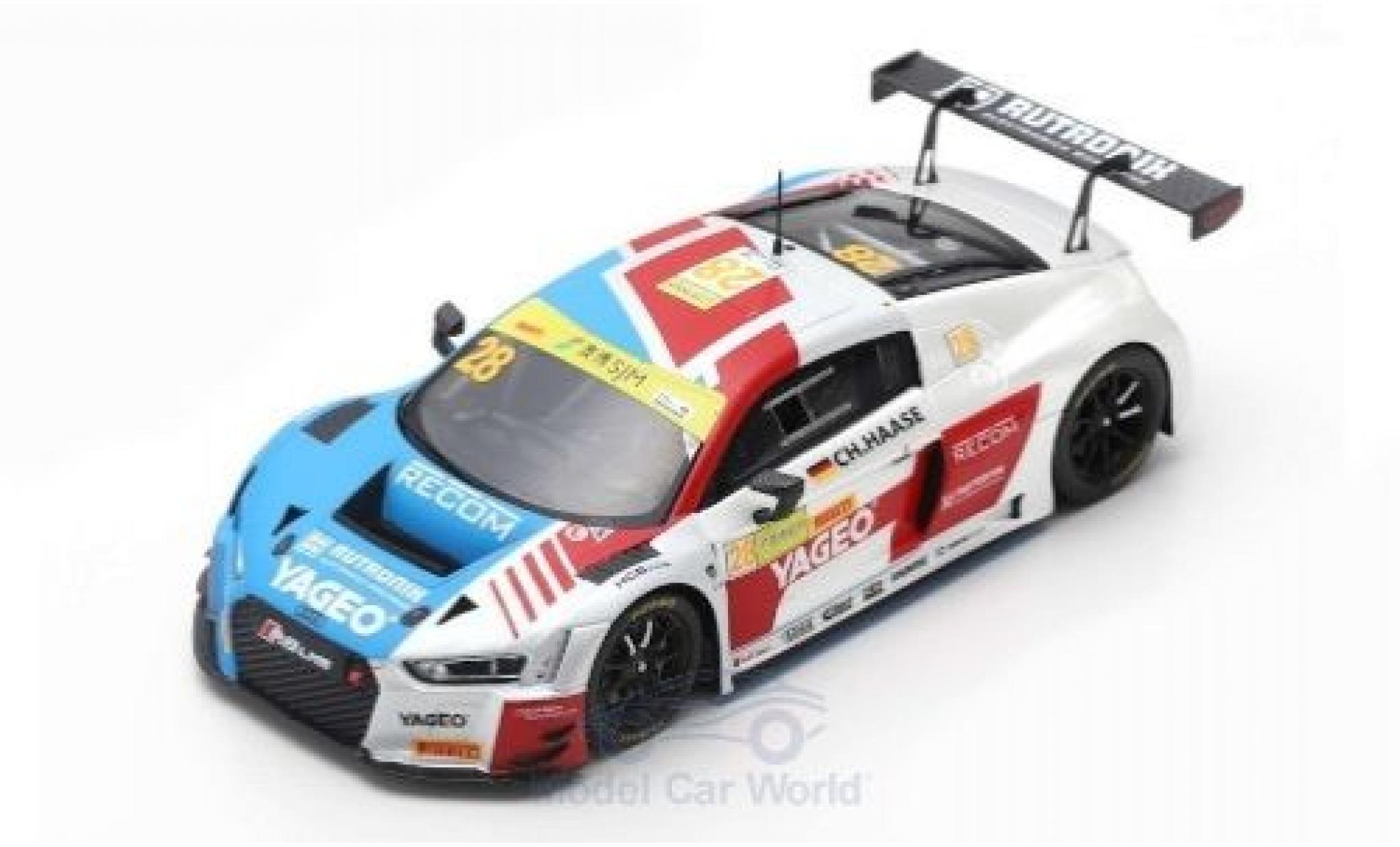 Audi R8 1/43 Spark LMS No.28 Sport Team Rutronik Fia GT World Cup Macau 2018 C.Haase