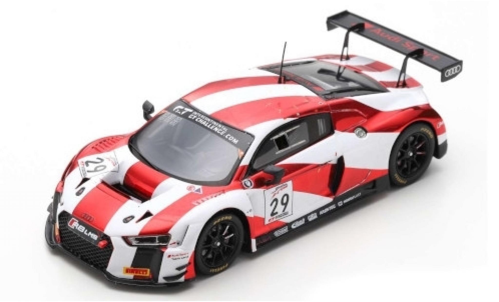 Audi R8 1/43 Spark LMS No.29 Sport Team Land 8h Kalifornien 2018 C.Mies/C.Haase/K.van le Linde