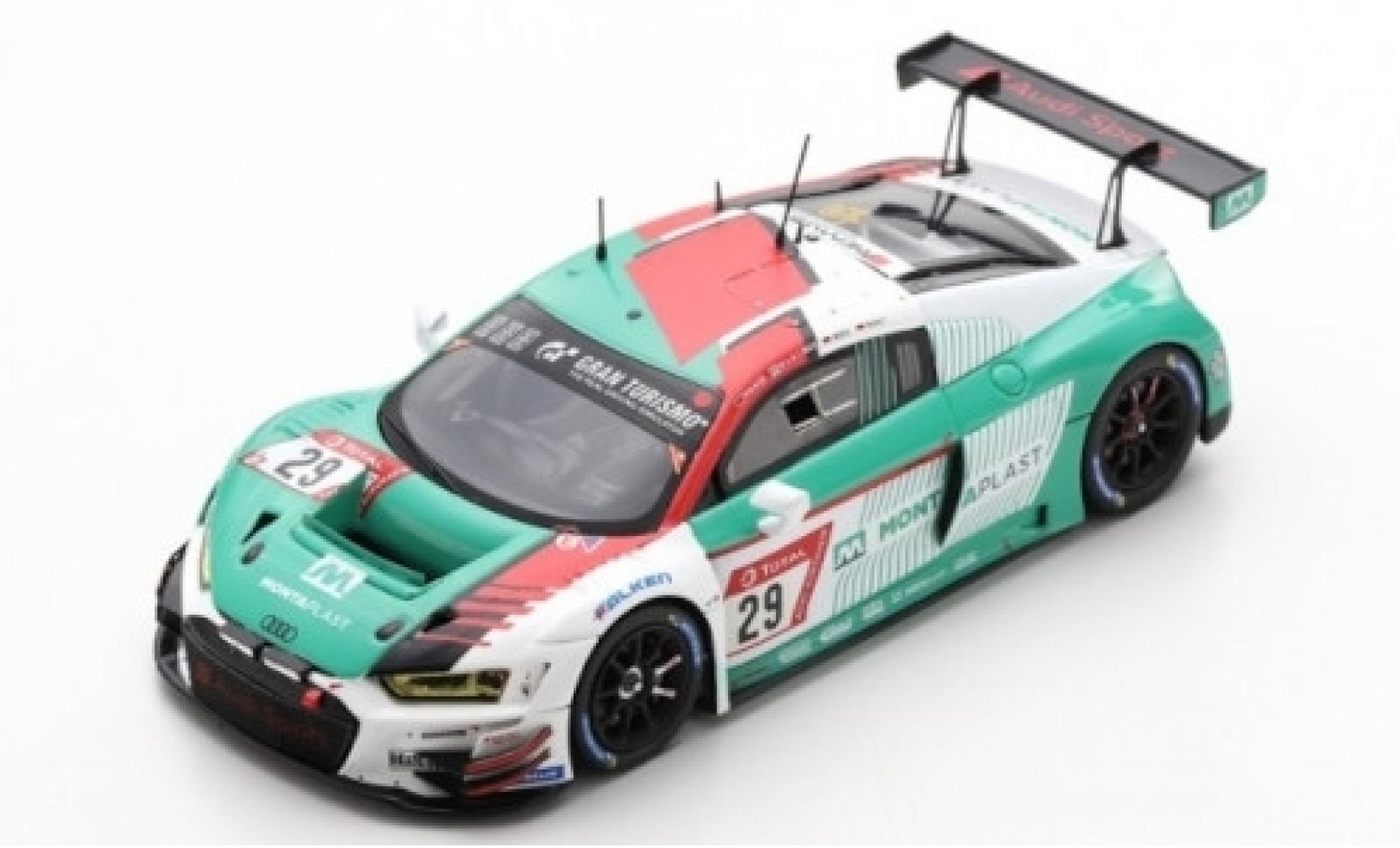 Audi R8 1/43 Spark LMS No.29 Sport Team Land MontaPlast 24h Nürburgring 2019 C.Mies/R.Rast/K.van le Linde/C.Haase