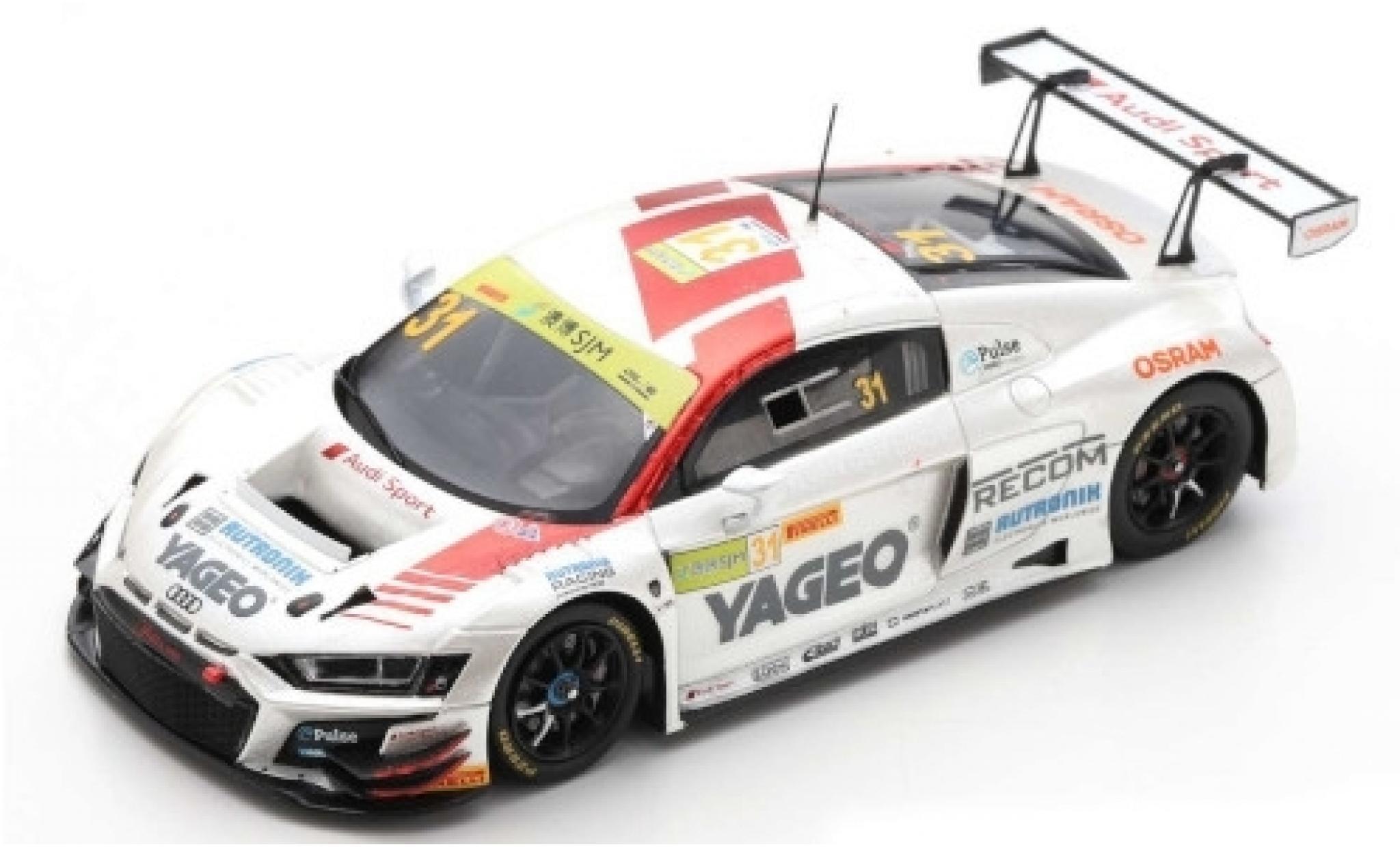 Audi R8 1/43 Spark LMS No.31 Sport Team Rutronik Yageo Fia GT World Cup Macau 2019 K.van le Linde