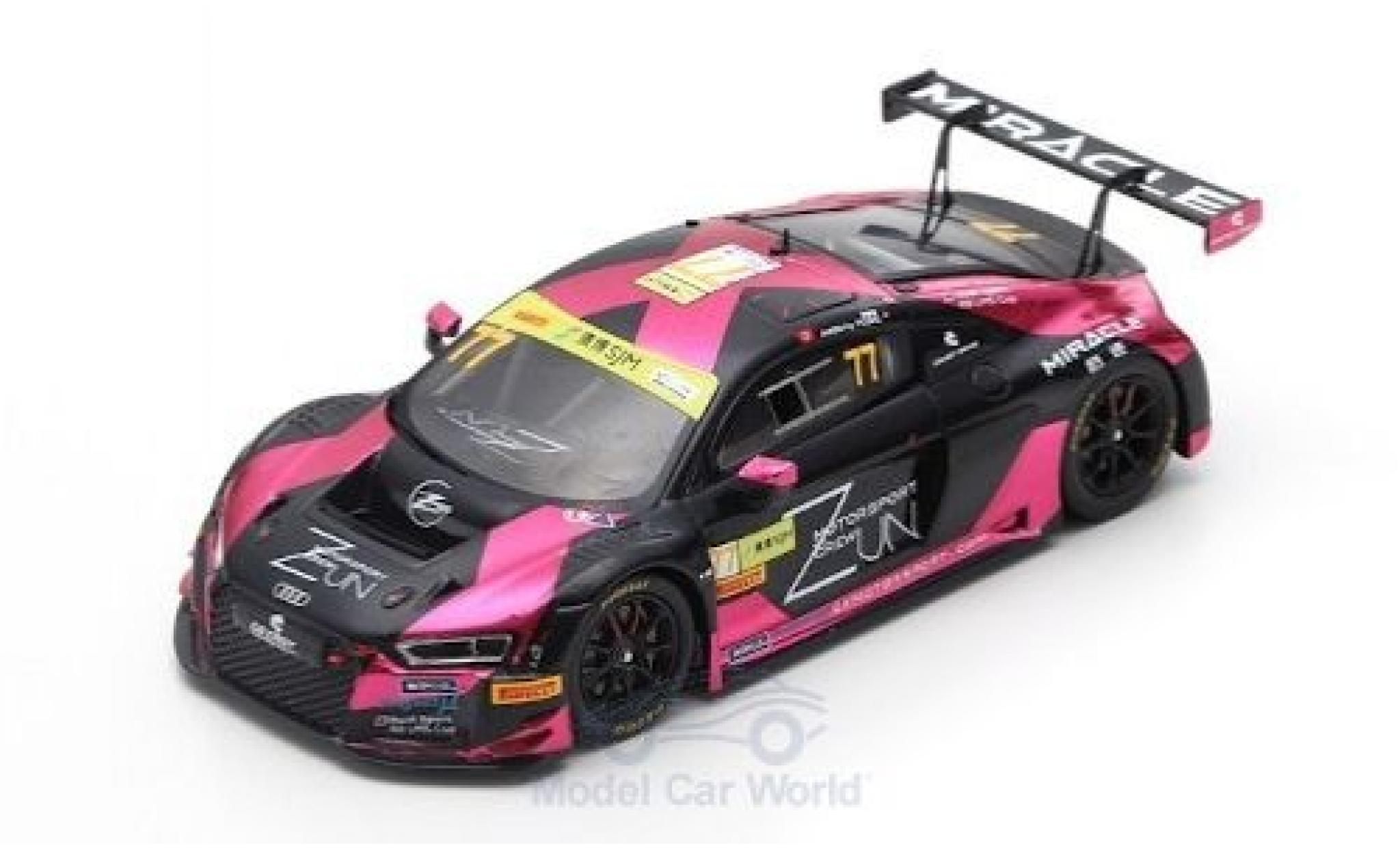 Audi R8 1/43 Spark LMS No.77 Zun Motorsport Crew Fia GT World Cup Macau 2018 A.Fong