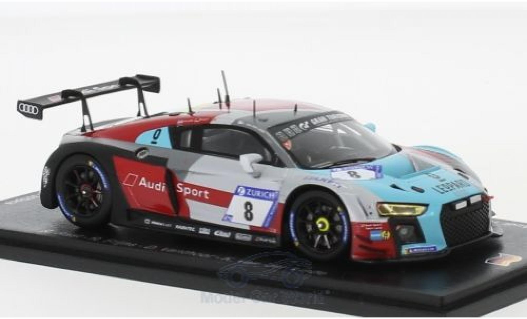 Audi R8 1/43 Spark LMS No.8 Sport Team WRT 24h Nürburgring 2018 R.Rast/R.Frijns/D.Vanthoor/K.van der Linde
