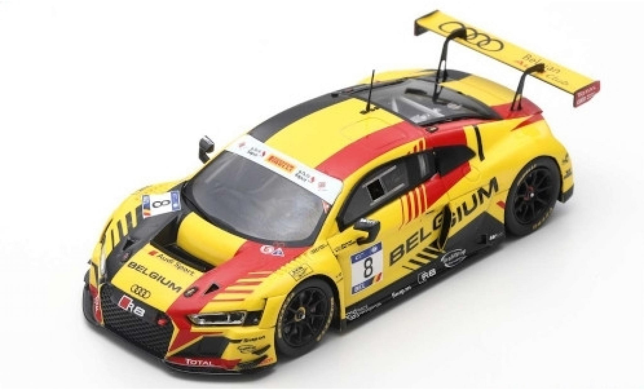 Audi R8 1/43 Spark LMS No.8 Belgian Club Team WRT FIA GT Nations Cup Bahrain 2018 Team Belgium M.Den Tandt/C.Weerts