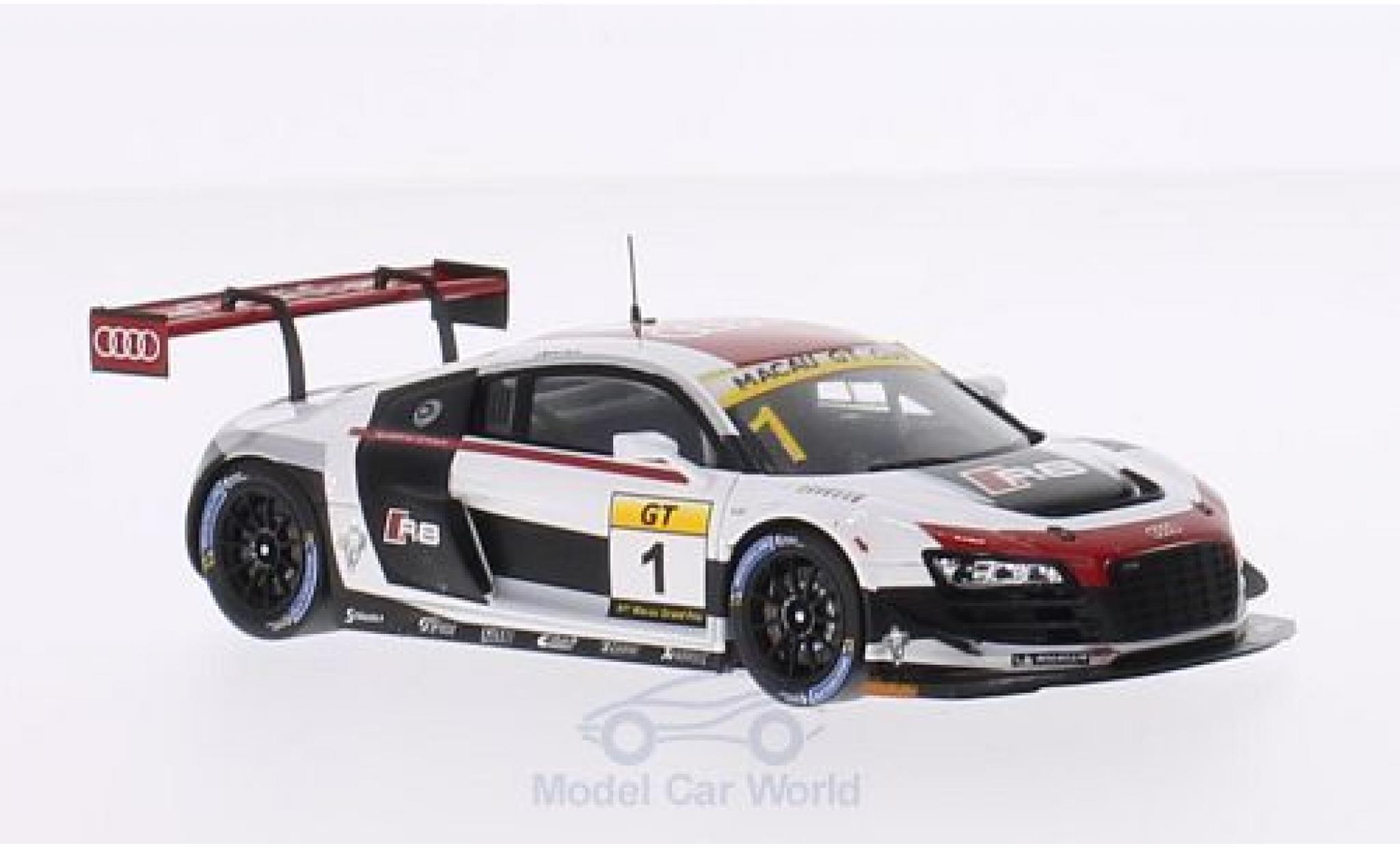 Audi R8 1/43 Spark LMS Ultra No.1 GT Cup GP Macau 2014 E.Mortara