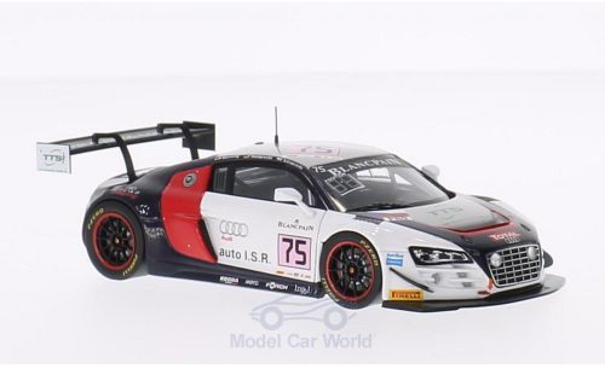 Audi R8 1/43 Spark LMS Ultra No.75 ISR 24h Spa 2014 M.Basseng/F.Hamprecht/F.Salaquarda