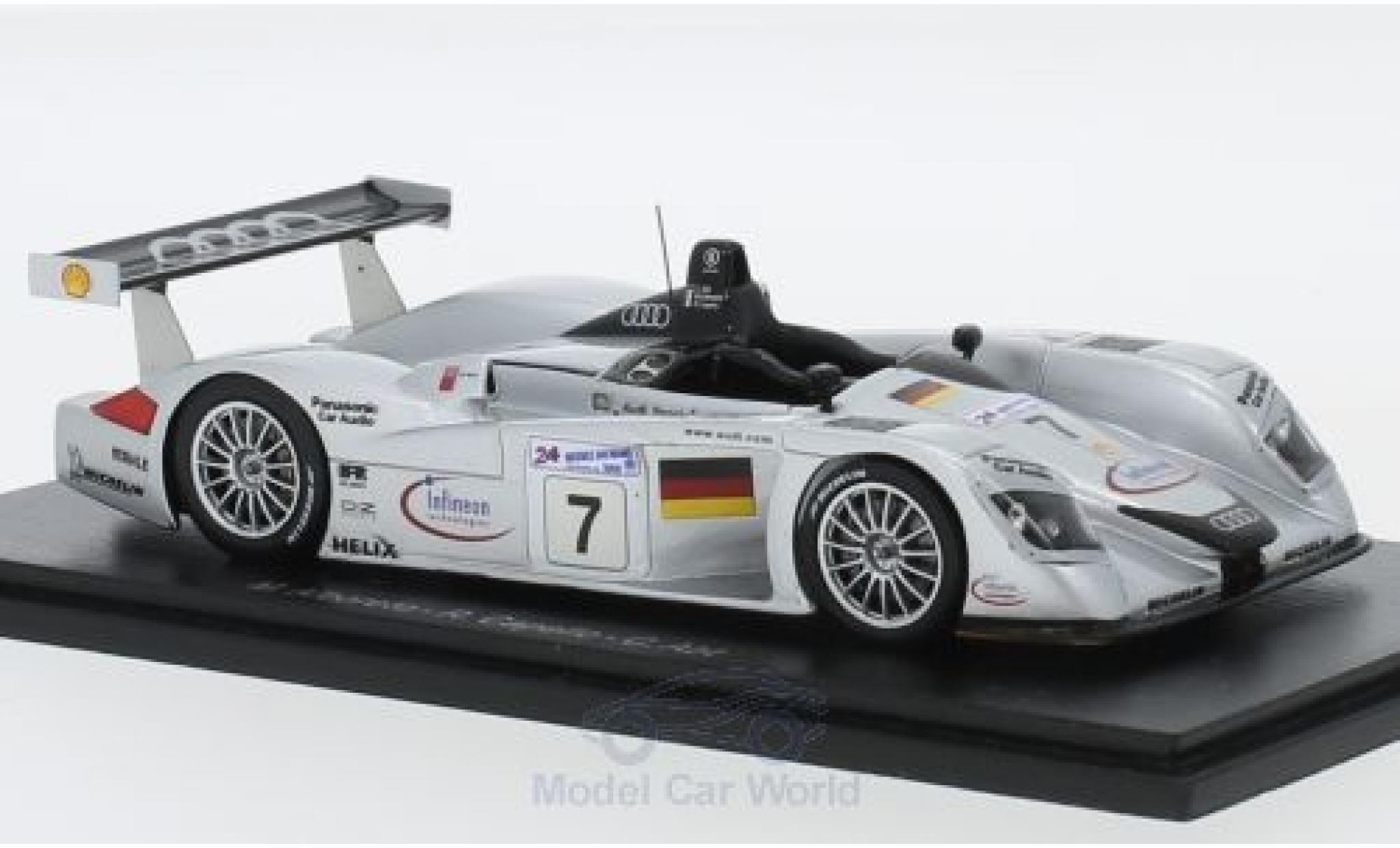 Audi R8 1/43 Spark No.7 Sport Team Joest 24h Le Mans 2000 M.Alboreto/R.Capello/C.Abt