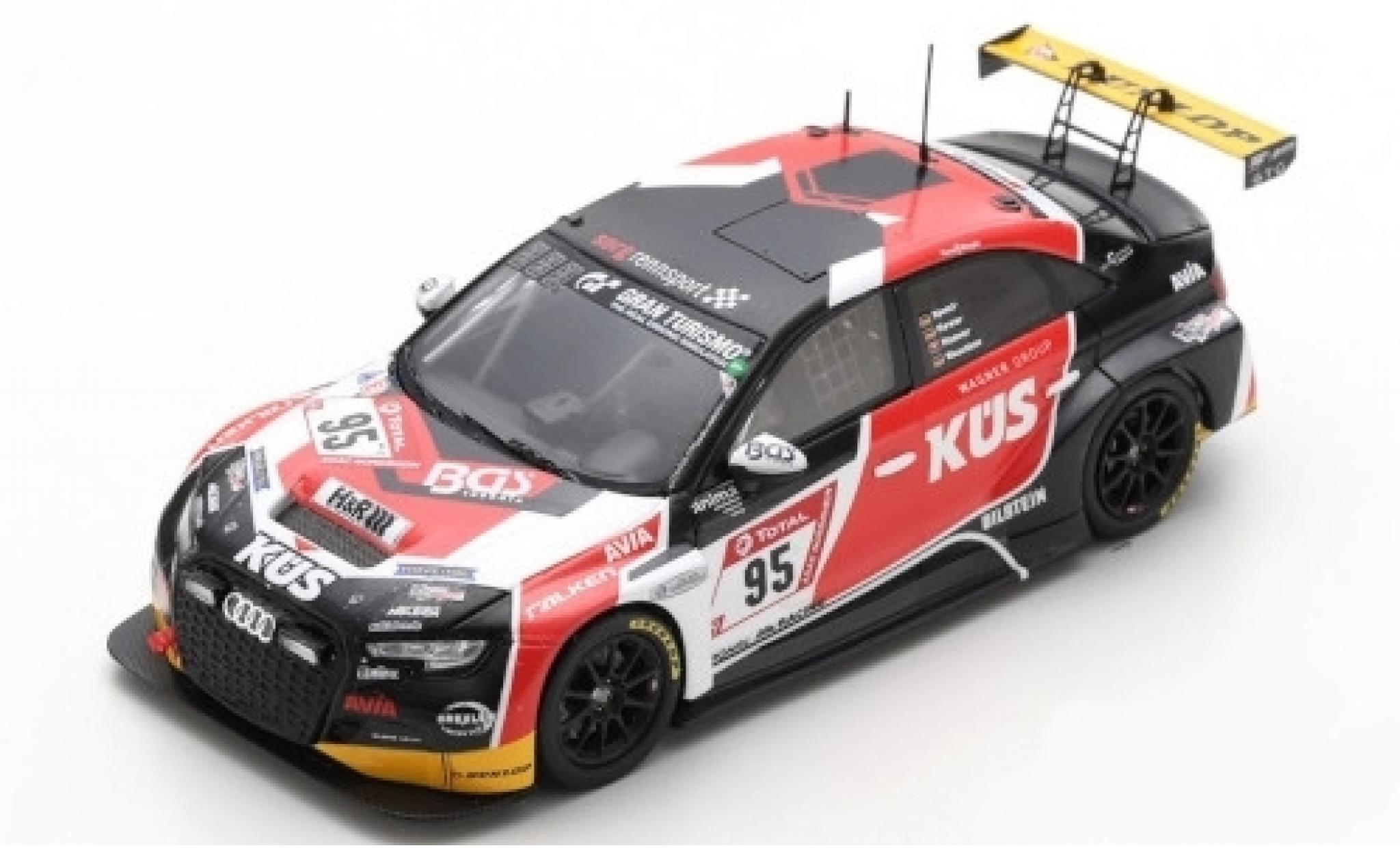 Audi RS3 1/43 Spark No.95 Team Avia Sorg Rennsport 24h Nürburgring 2019 P.Haener/C.Hewer/R.Speich/R.Waschkau