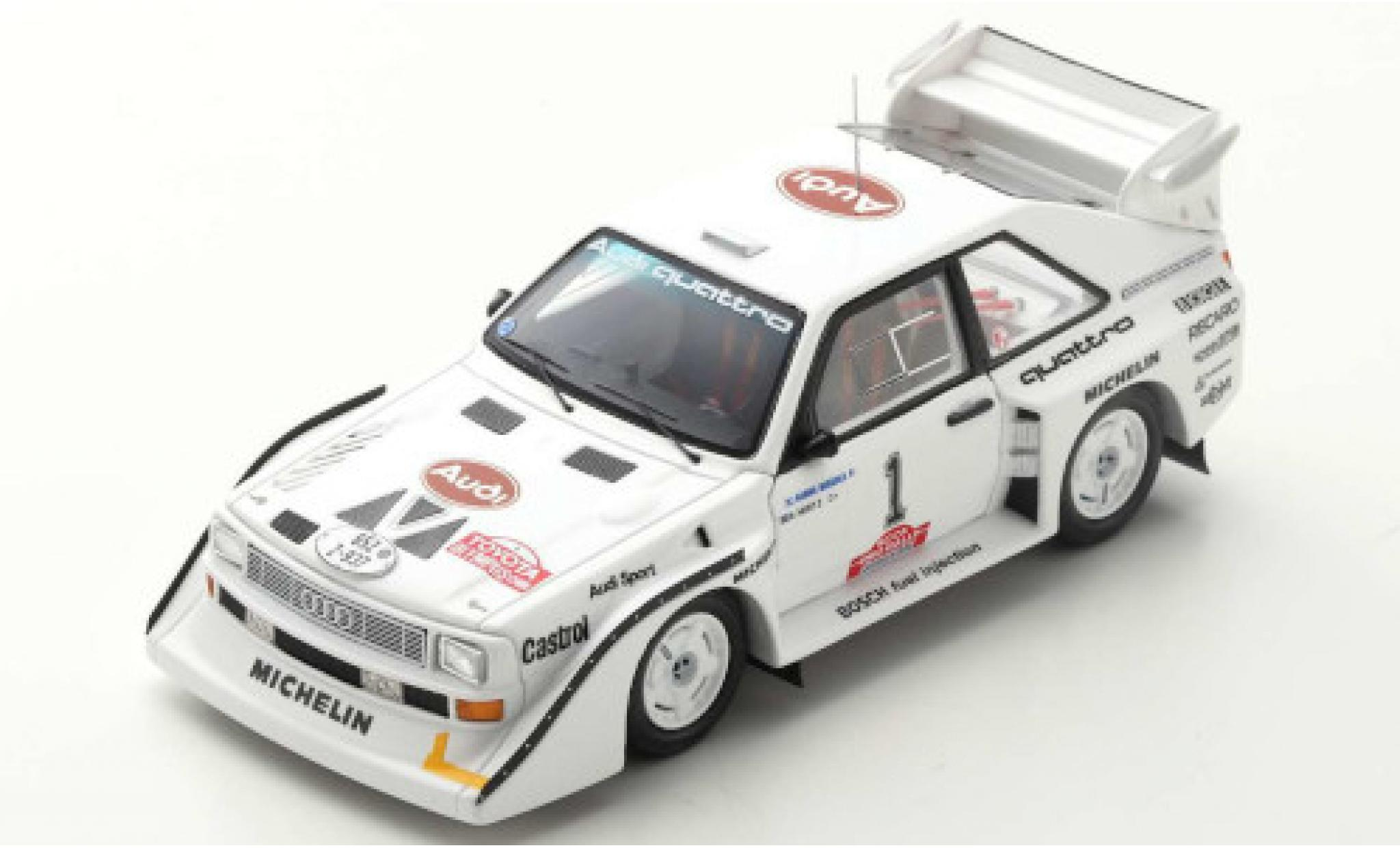 Audi Sport Quattro 1/43 Spark Sport quattro S1 E2 No.1 Rally Olympus 1985 H.Mikkola/A.Hertz
