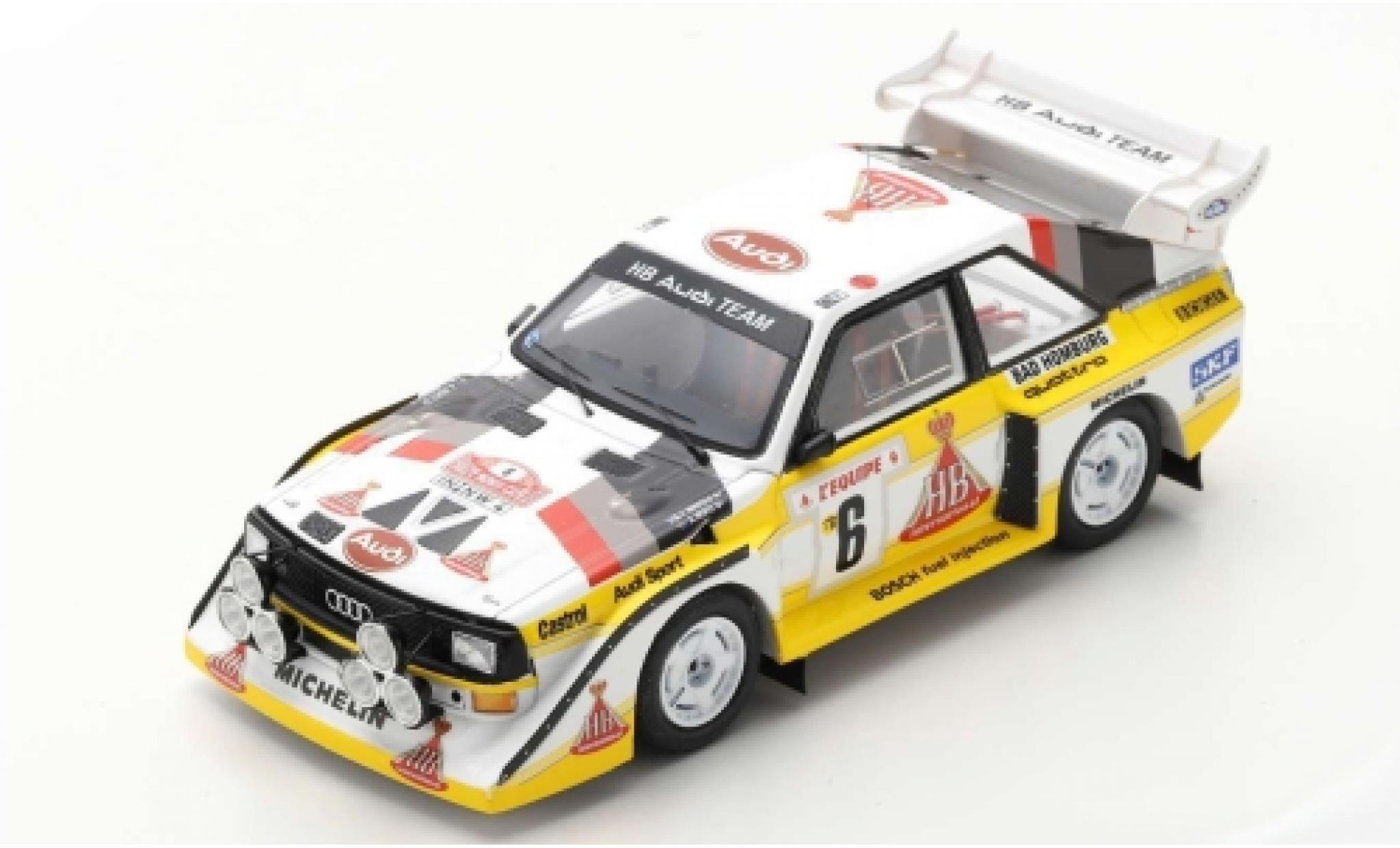 Audi Sport Quattro 1/43 Spark Sport quattro S1 E2 No.6 HB Team HB Rallye WM Rallye Monte Carlo 1986 H.Mikkola/A.Hertz