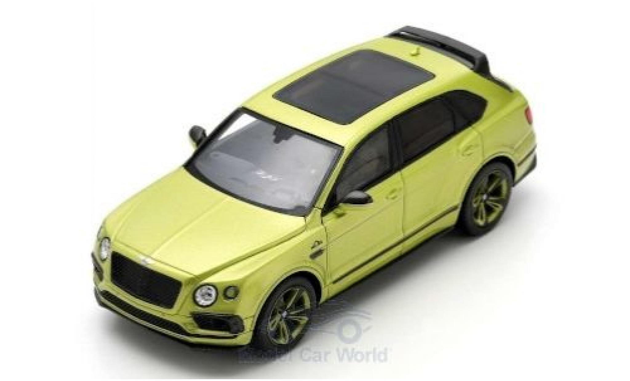 Bentley Bentayga 1/43 Spark Pikes Peak Limited Edition mettalic grün 2018 by Mulliner