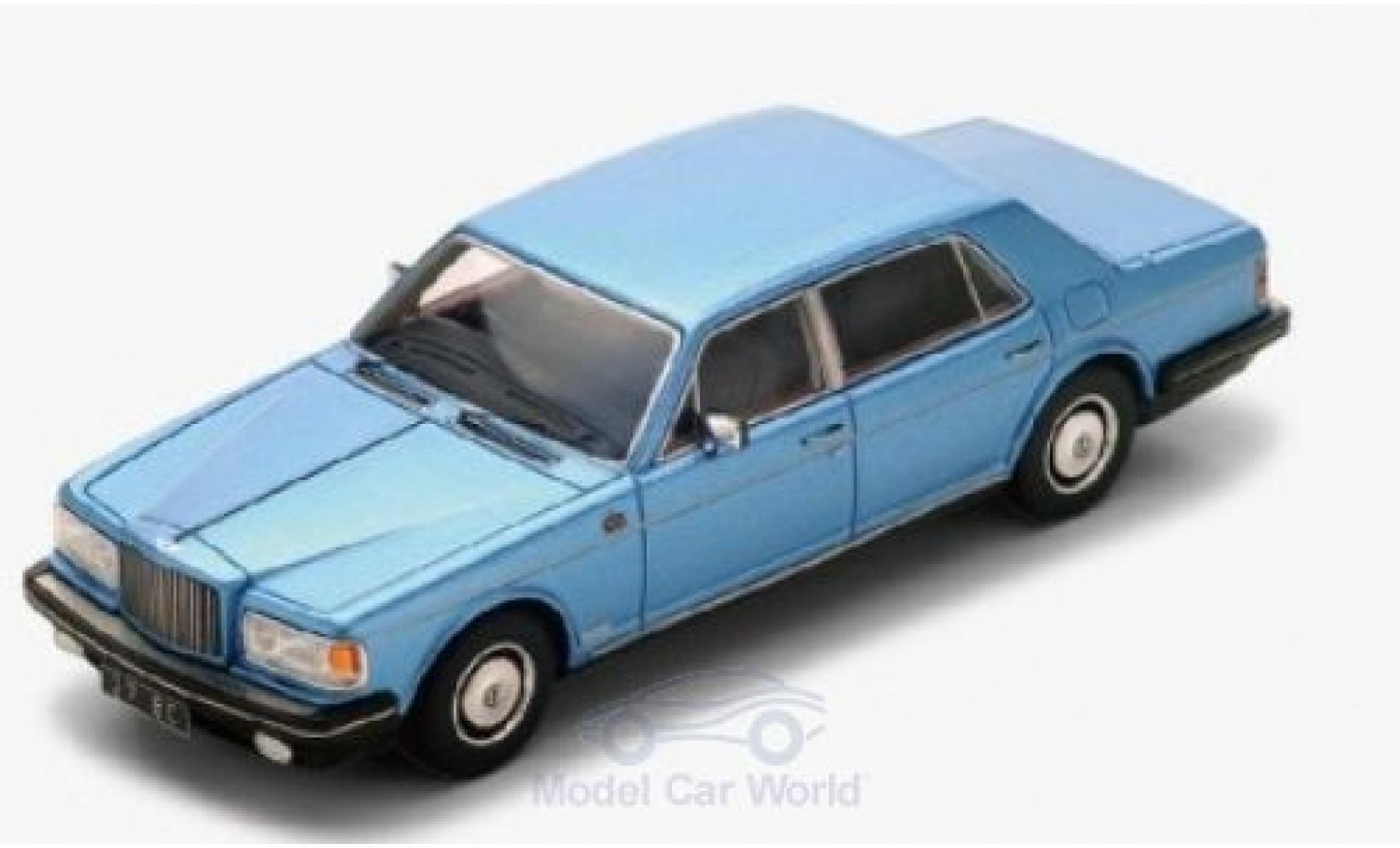Bentley Mulsanne 1/43 Spark metallise blu RHD 1980
