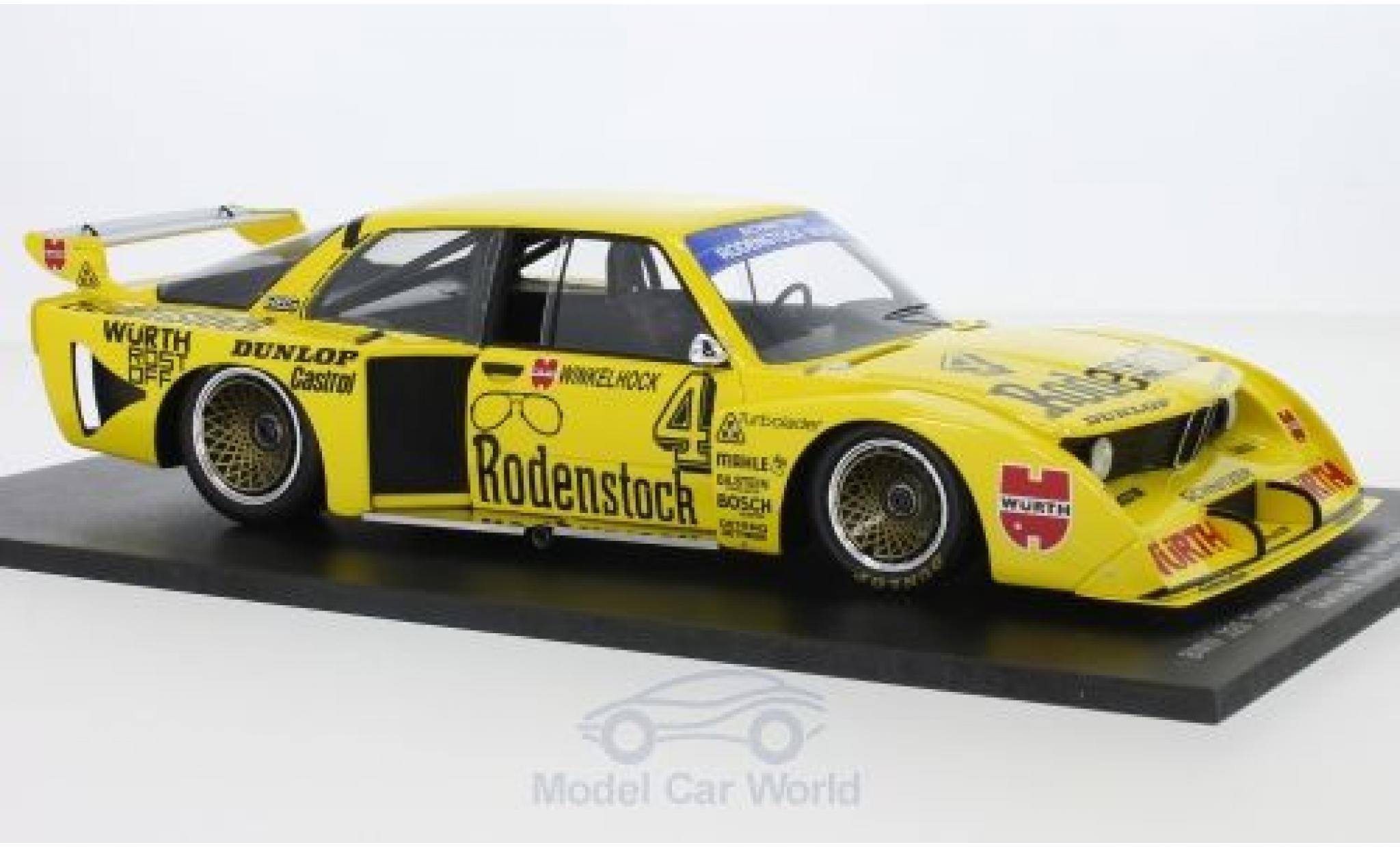 Bmw 320 1/18 Spark Turbo No.4 Schnitzer Rodenstock DRM Nürburgring 1979 M.Winkelhock