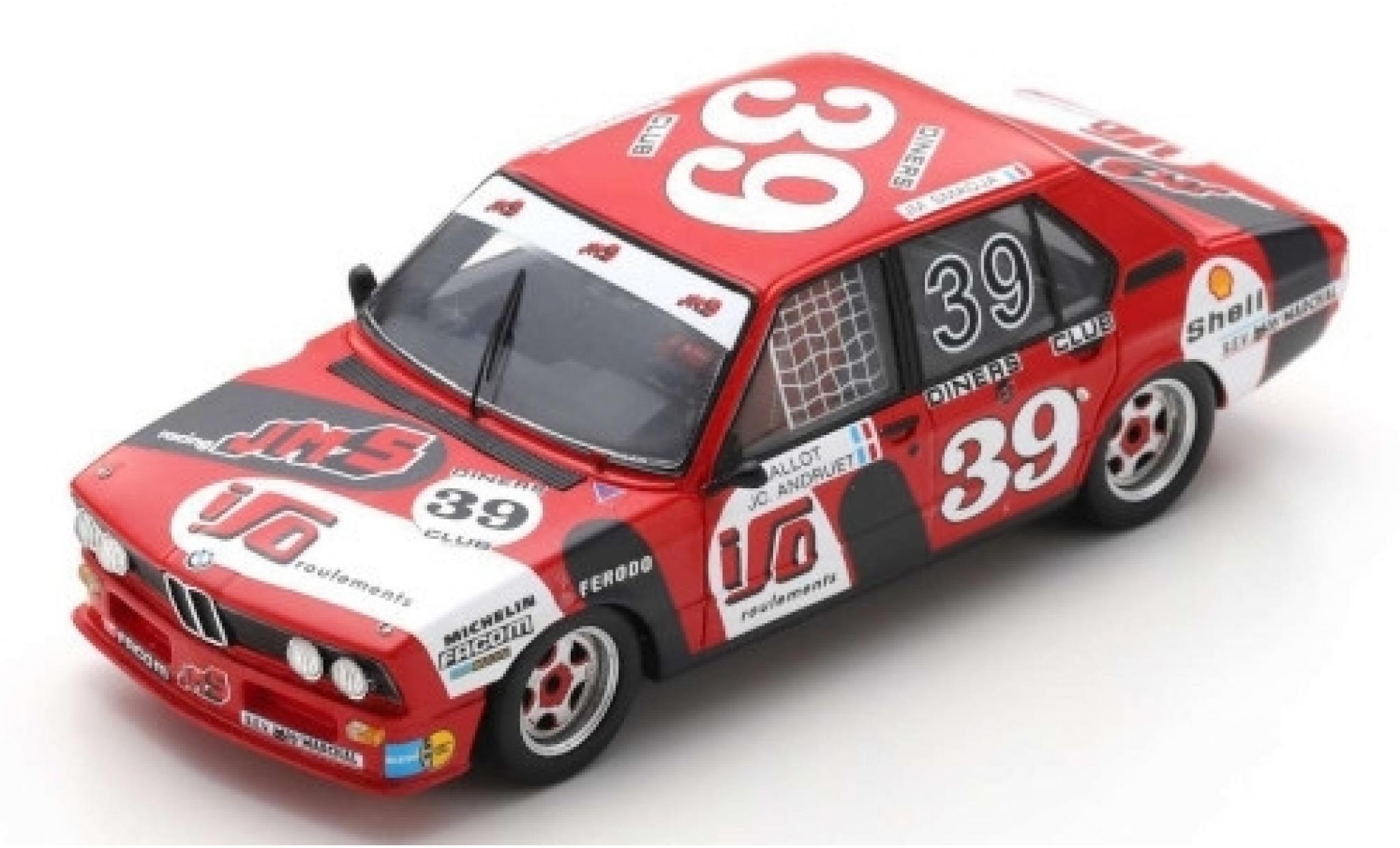 Bmw 530 1/43 Spark i (E12) No.39 JMS Racing Team 24h Spa Francorchamps 1980 C.Ballot-Lena/J-C.Andruet/J-M.Smadja