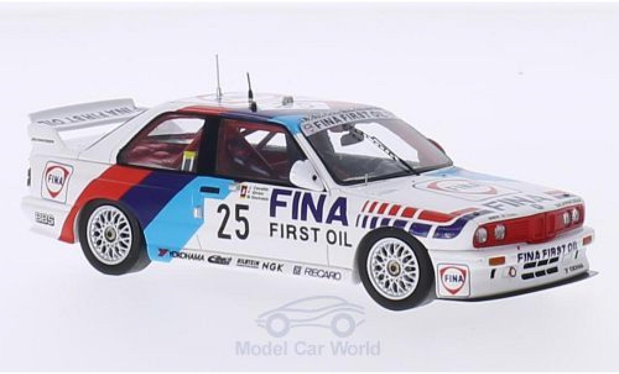 Bmw M3 E30 1/43 Spark  No.25 M Team Schnitzer Fina 24h Spa 1990 J.Cecotto/F.Giroix/M.Oestreich