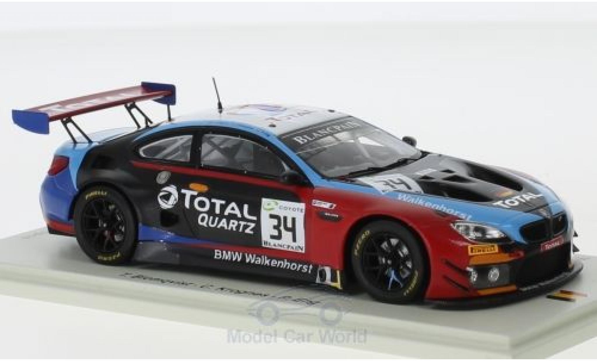 Bmw M6 1/43 Spark GT3 No.34 Walkenhorst Motorsport 24h Spa 2018 T.Blomqvist/C.Krognes/P.Eng