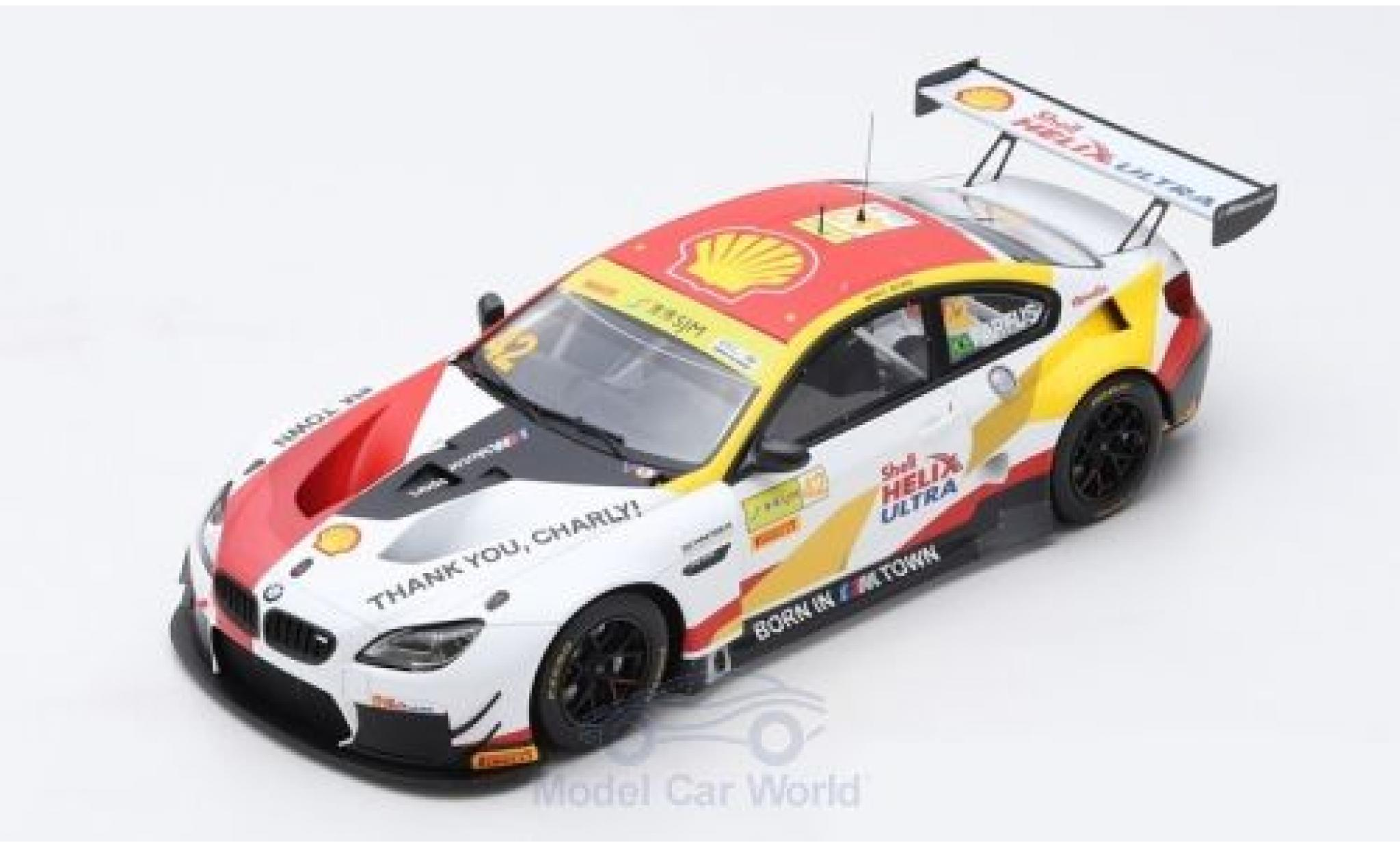 Bmw M6 1/18 Spark GT3 No.42 Team Schnitzer S Helix Fia GT World Cup Macau 2018 A.Farfus