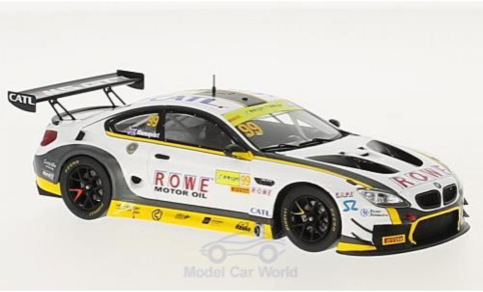 Bmw M6 1/43 Spark GT3 No.99 Rowe Racing Fia GT World Cup Macau 2017 T.Blomqvist